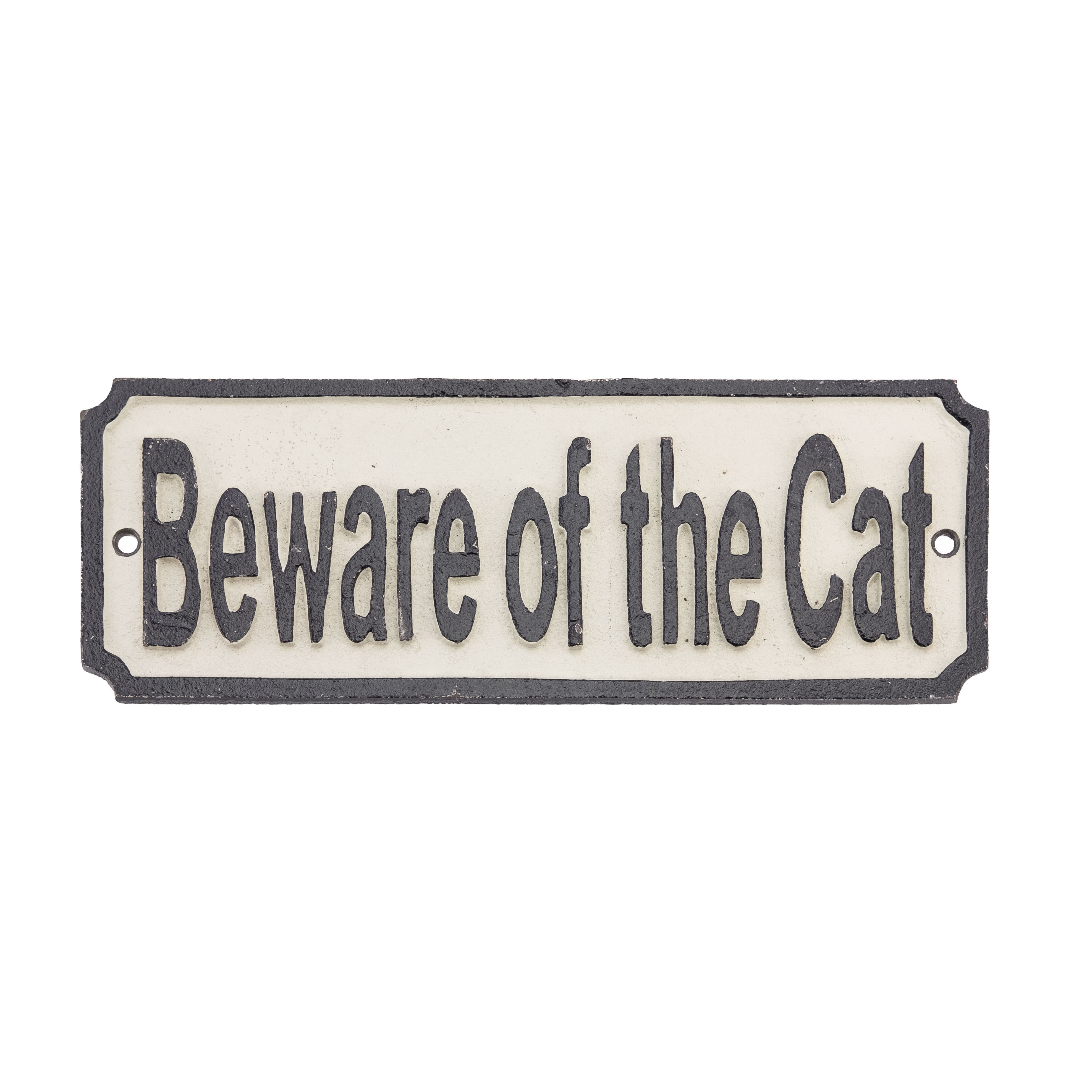 SIGN BEWARE OF THE CAT