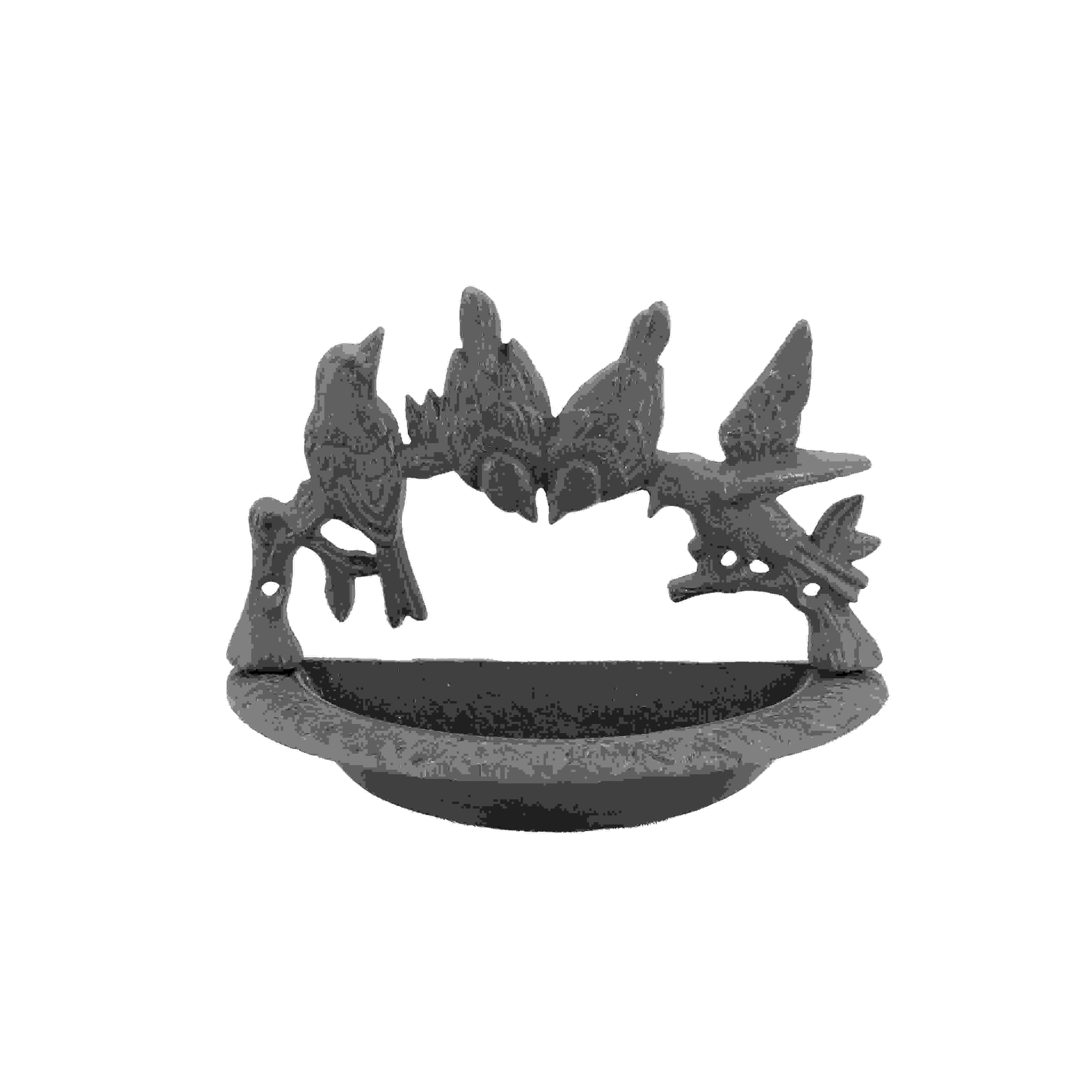 WALL BIRD BATH  w/4 BIRDS -RND