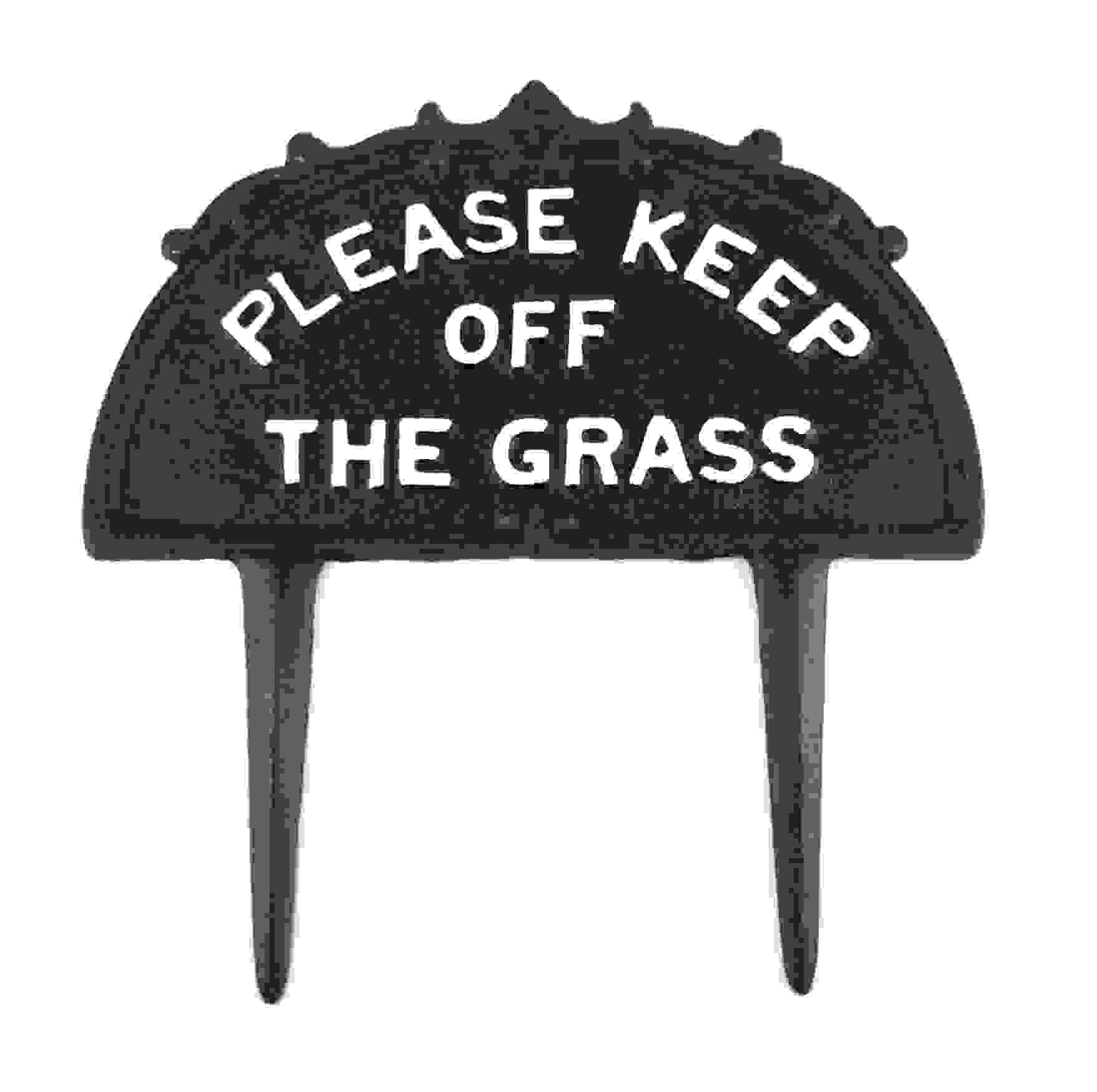 SIGN - KEEP OFF THE GRASS
