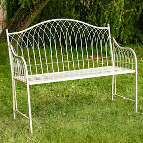 HAMPTON BENCH - CREAM