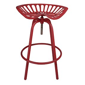 TRACTOR STOOL RED