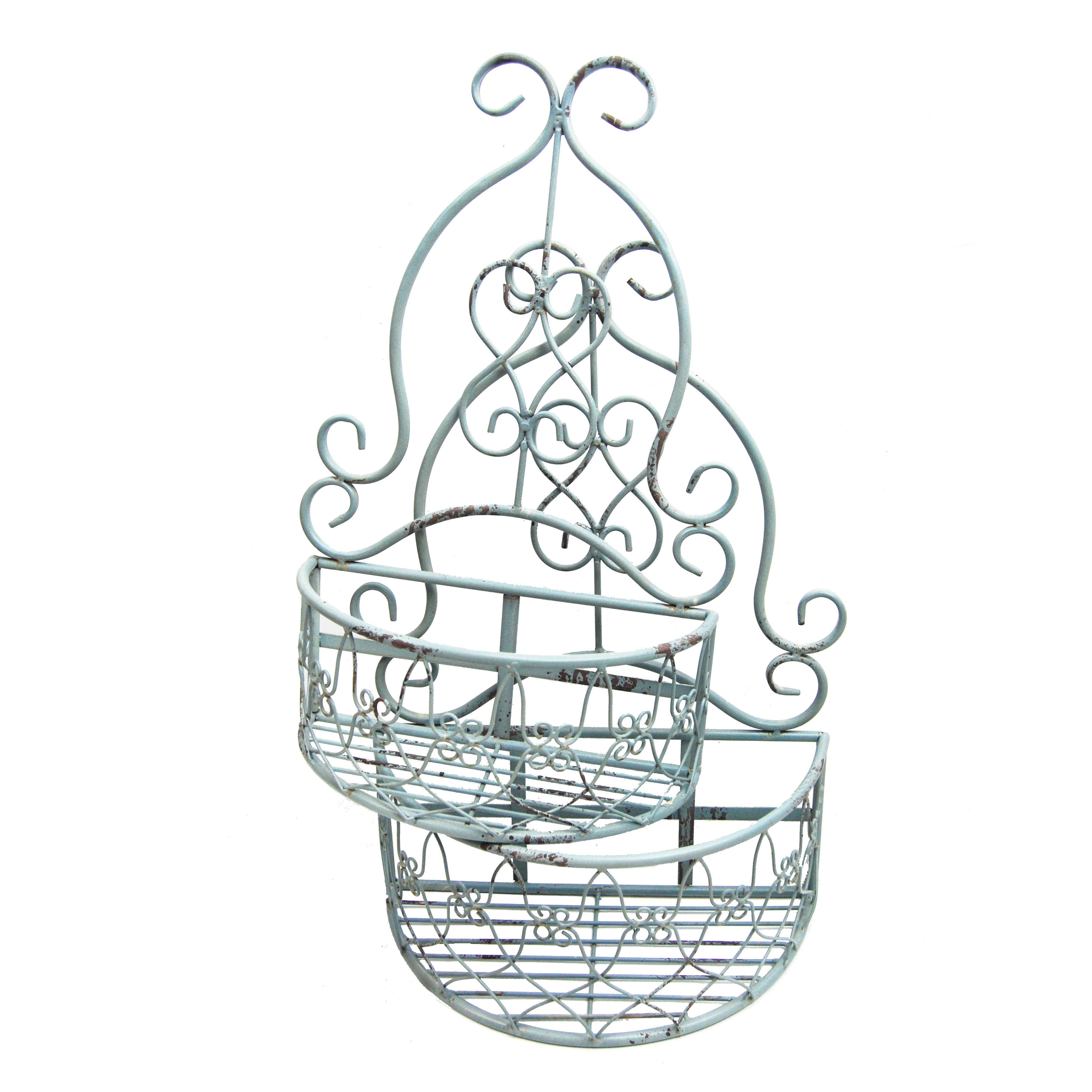 SIECLE TALL WALL BASKET (S/2)