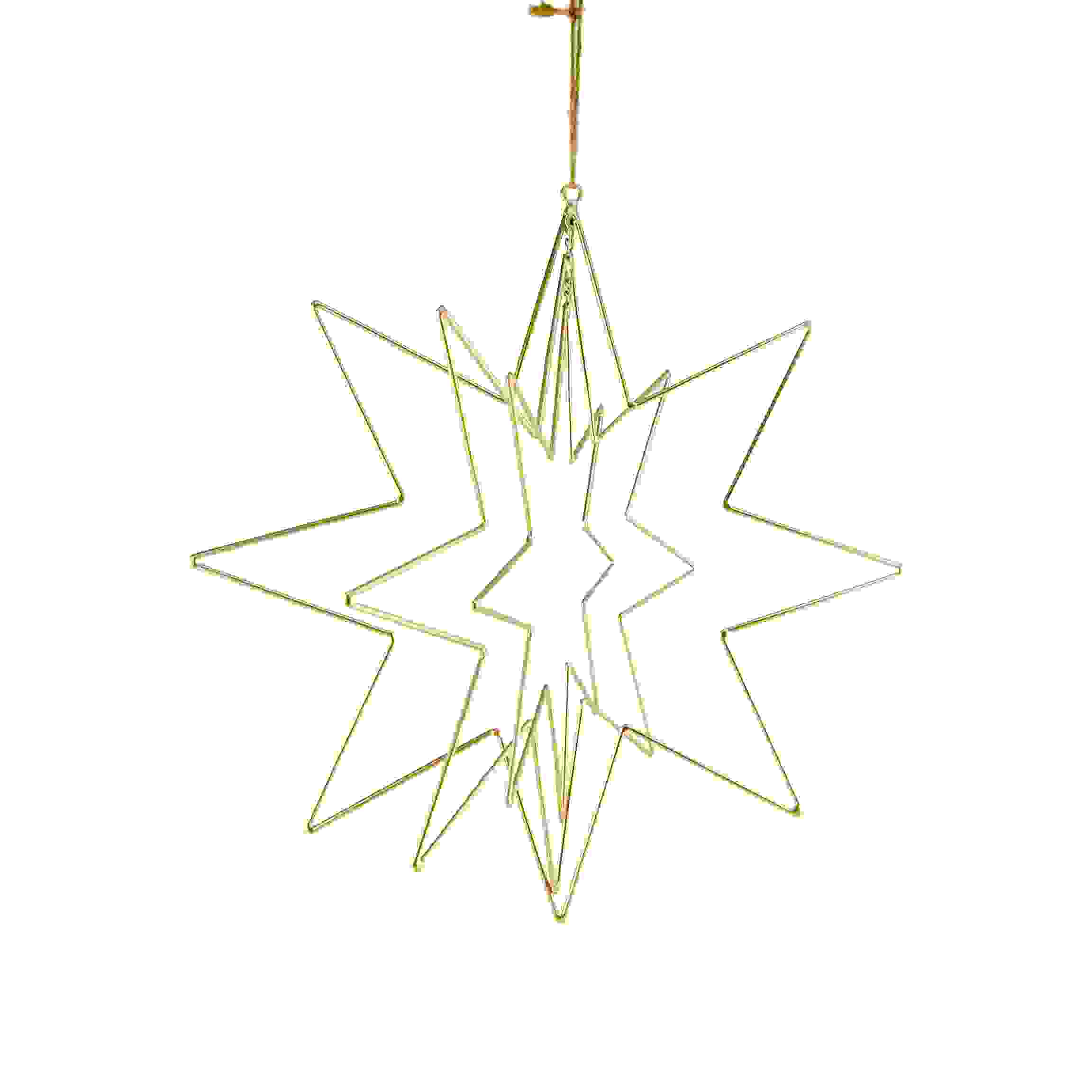 METAL HANG. CUT OUT 3D STAR