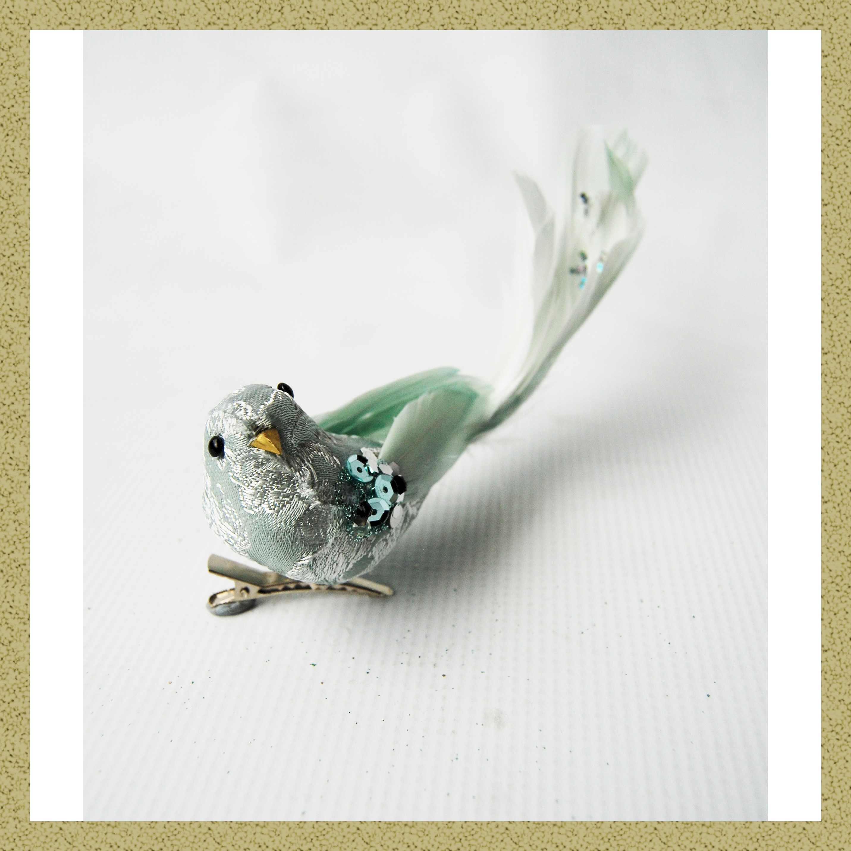 BLUE BIRD 18cm LONG TAIL w/CLIP
