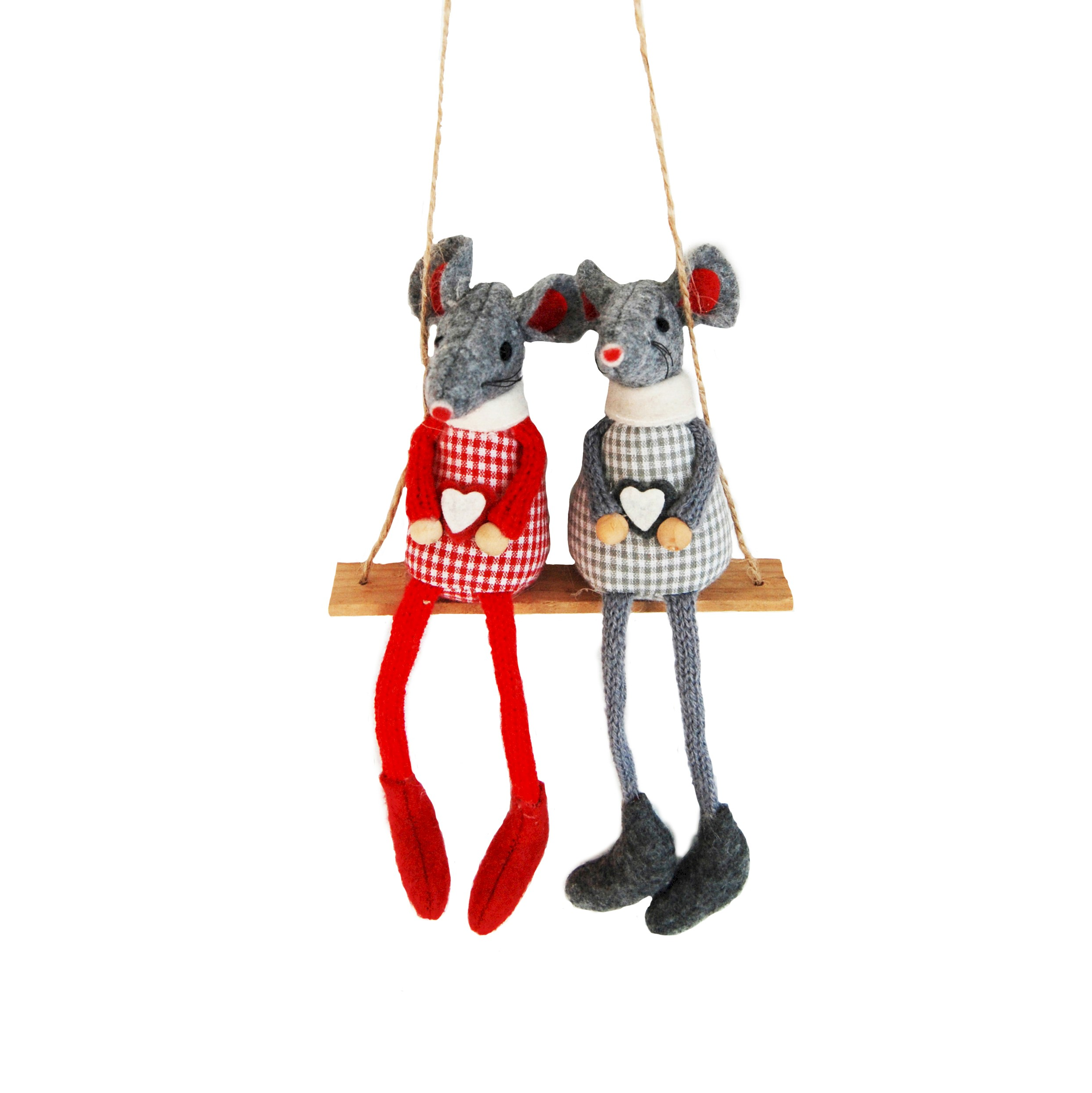 RED/GREY MICE ON SWING