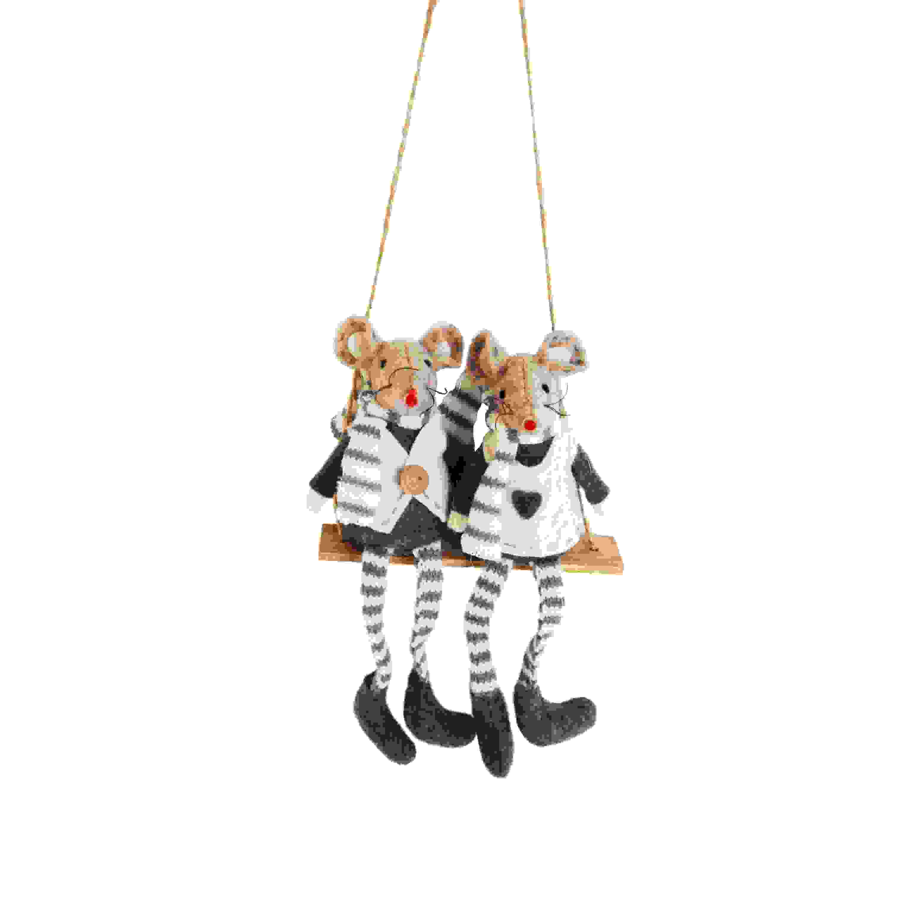 ASS. HANG GREY MICE ON SWING