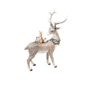 STAG FROSTED ORNAMENT