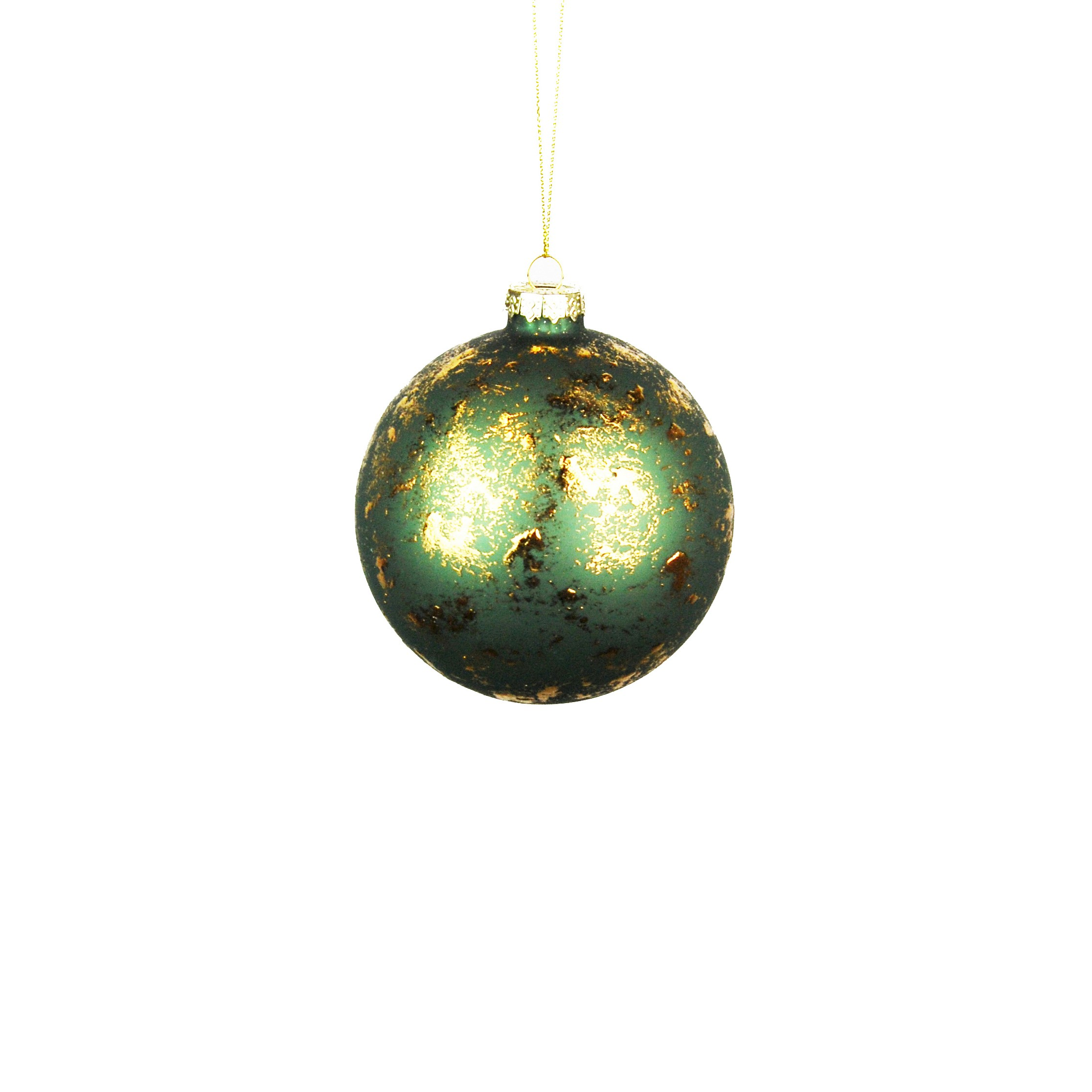 HANG. GREEN/GOLD BAUBLE