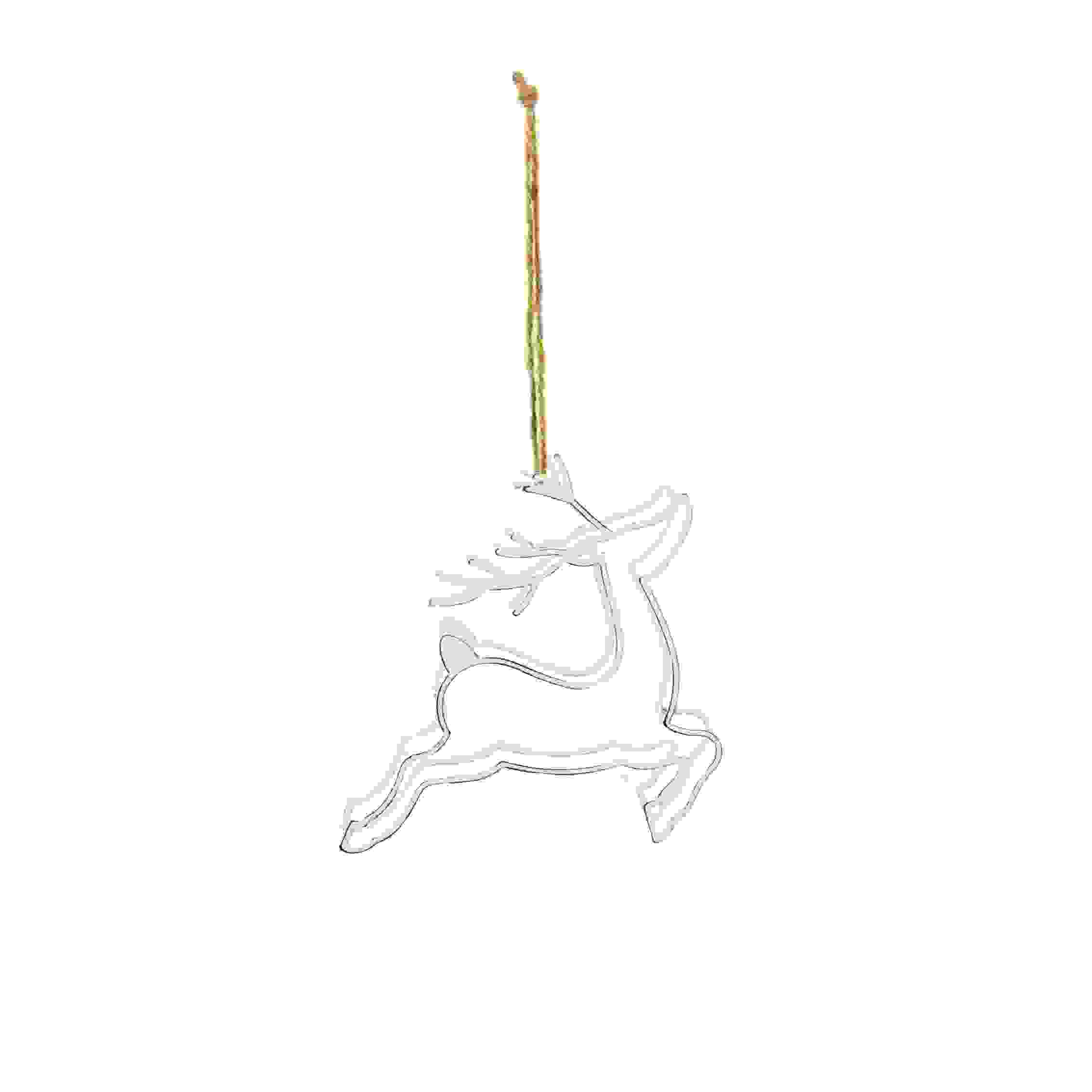 HANG. WHITE 3D PRANCING STAG