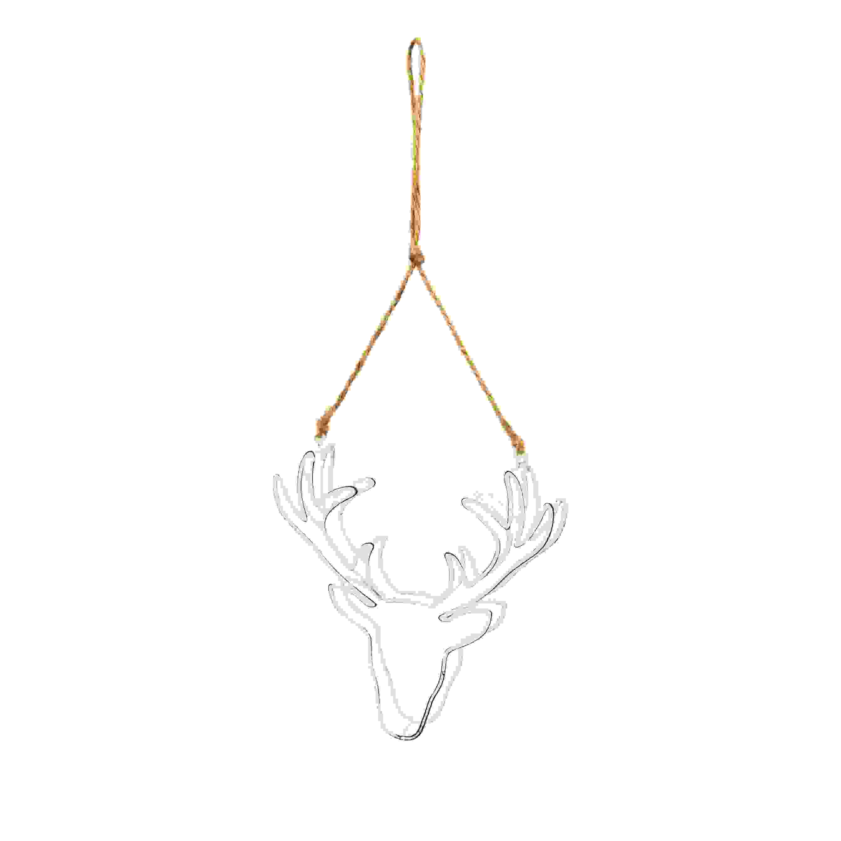 HANG. WHITE 3D STAG HEAD