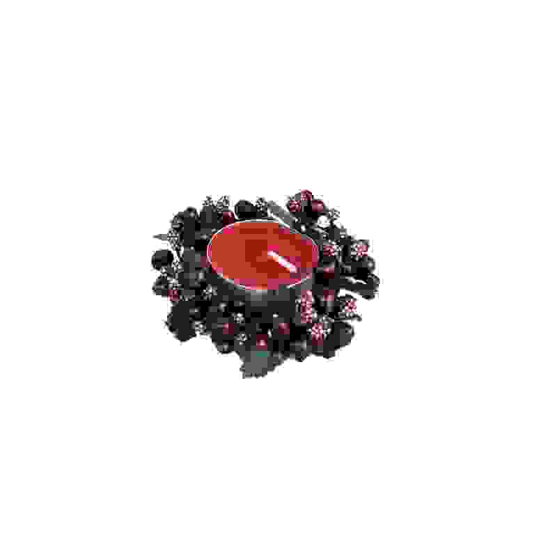 CANDLE RING 4cm PURPLE BERRYBUD