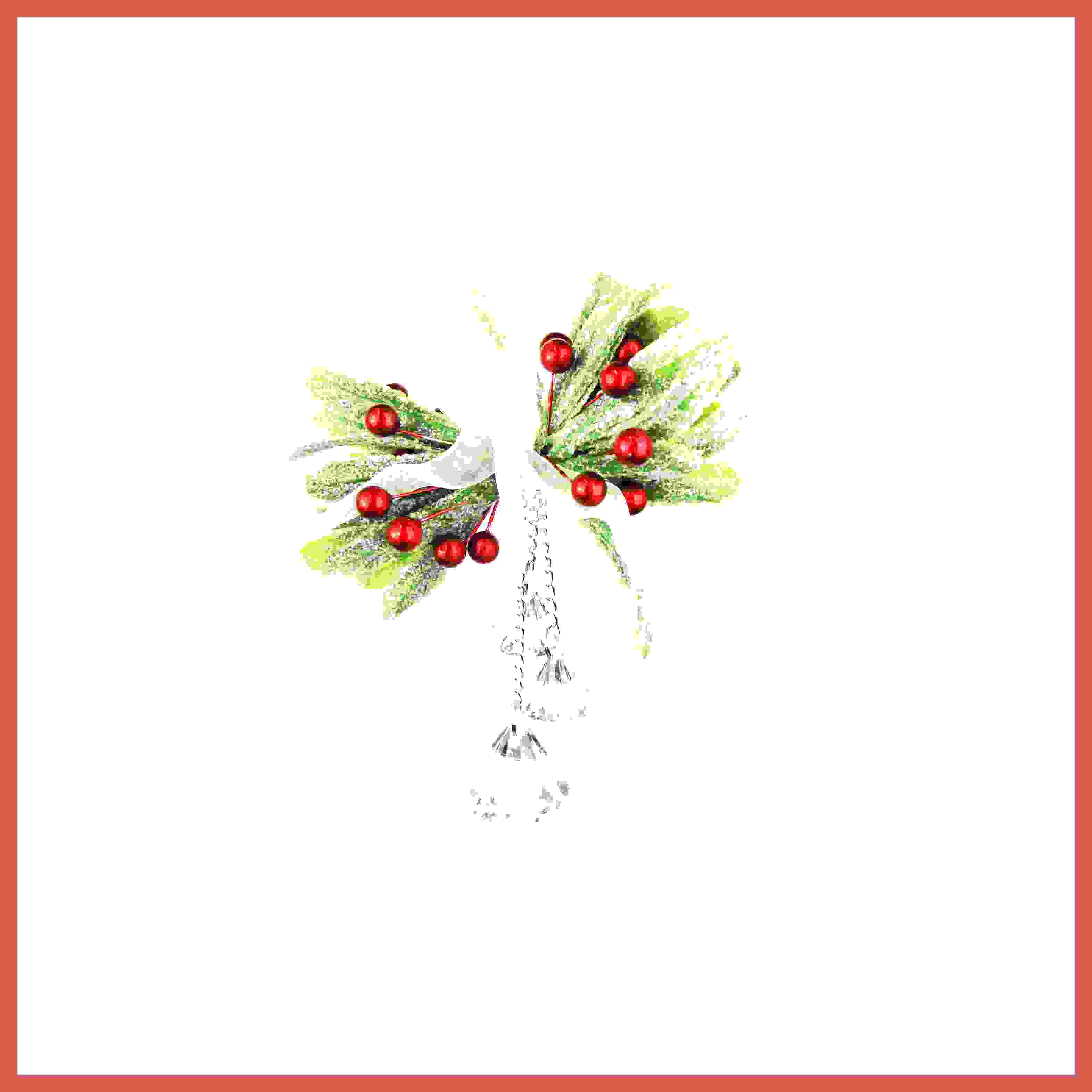 RED BERRY MISTLETOE w/CRYSTAL