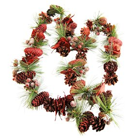 GARLAND RED PINECONE w/BERRY