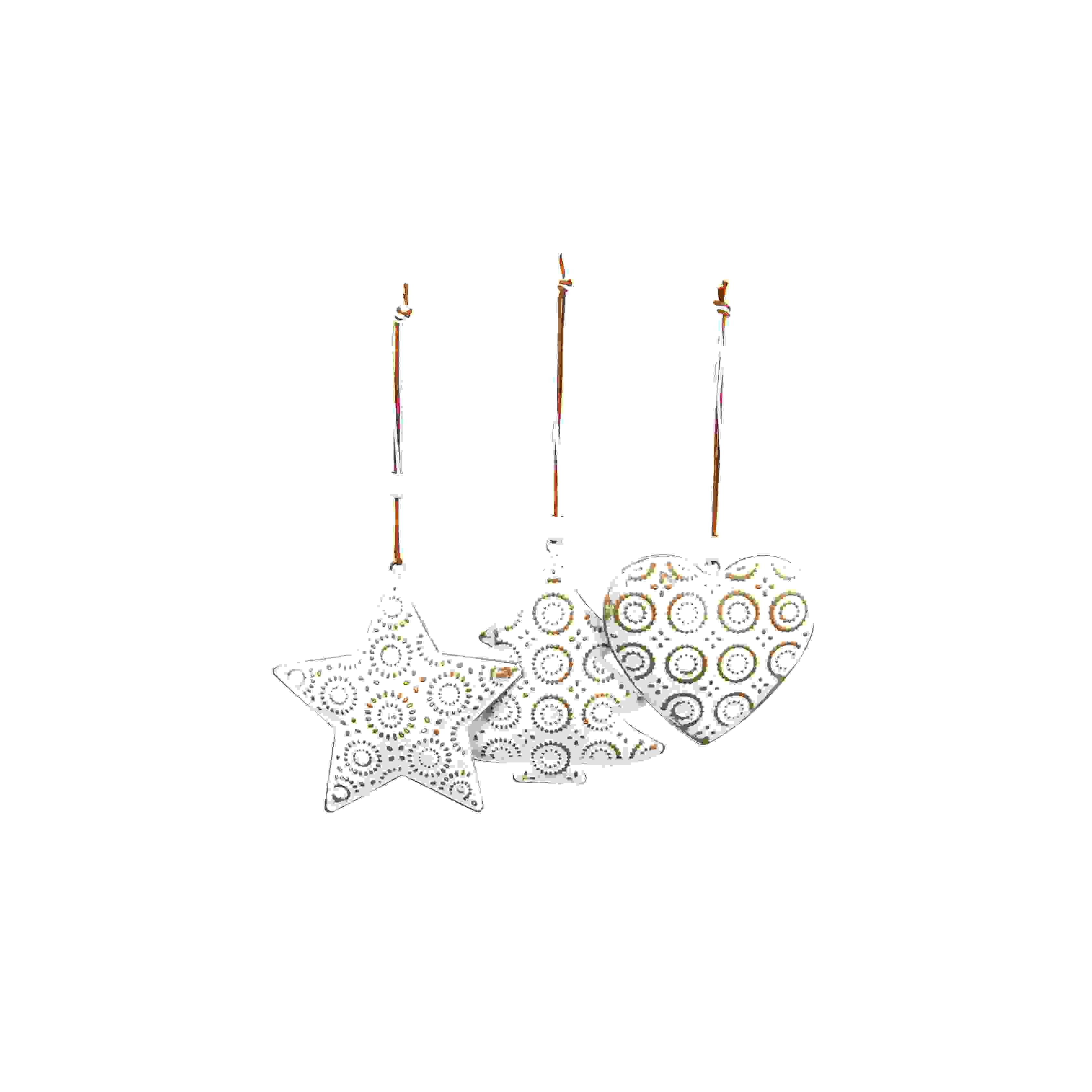 HANG. WHITE METAL DECS