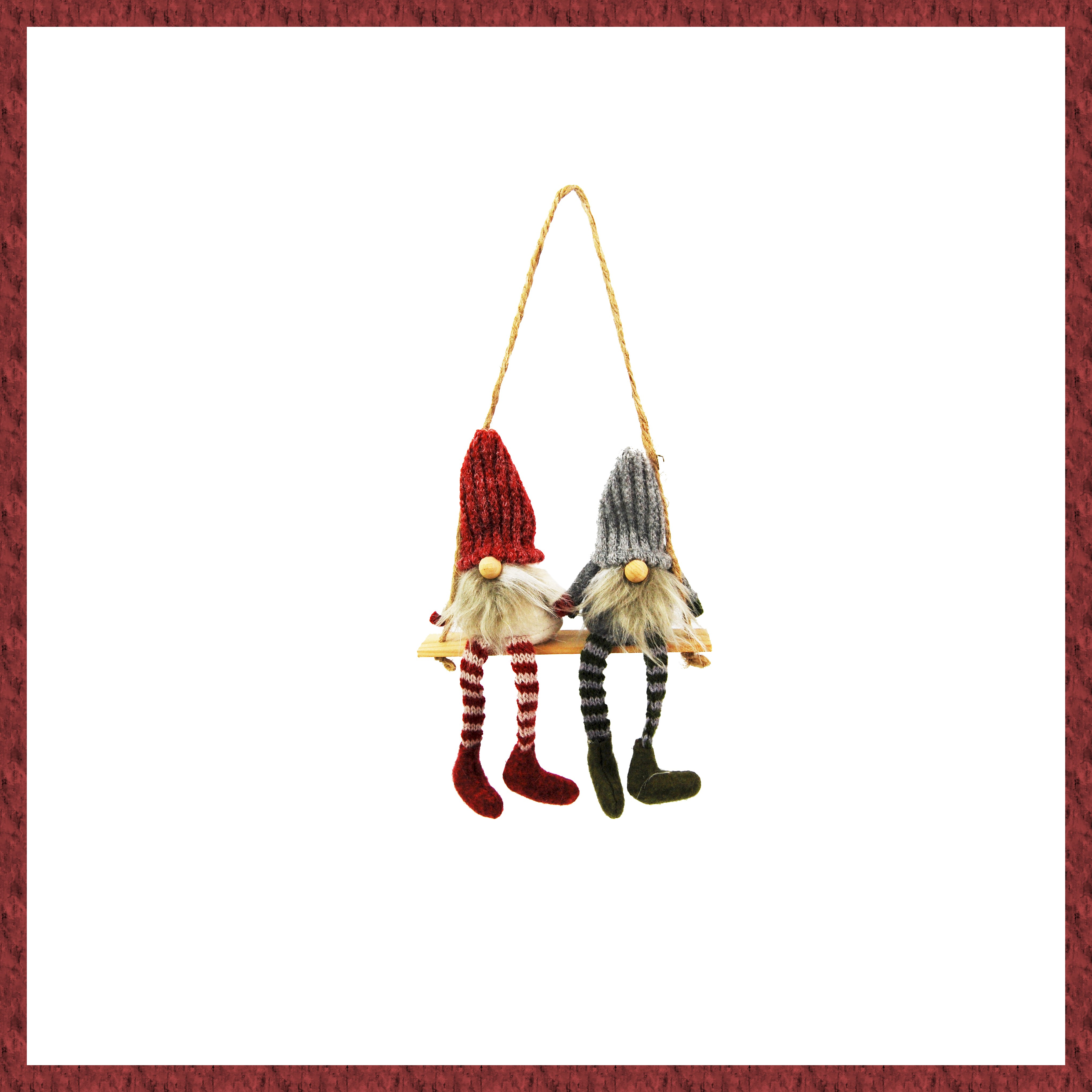 GREY/RED GONKS ON SWING