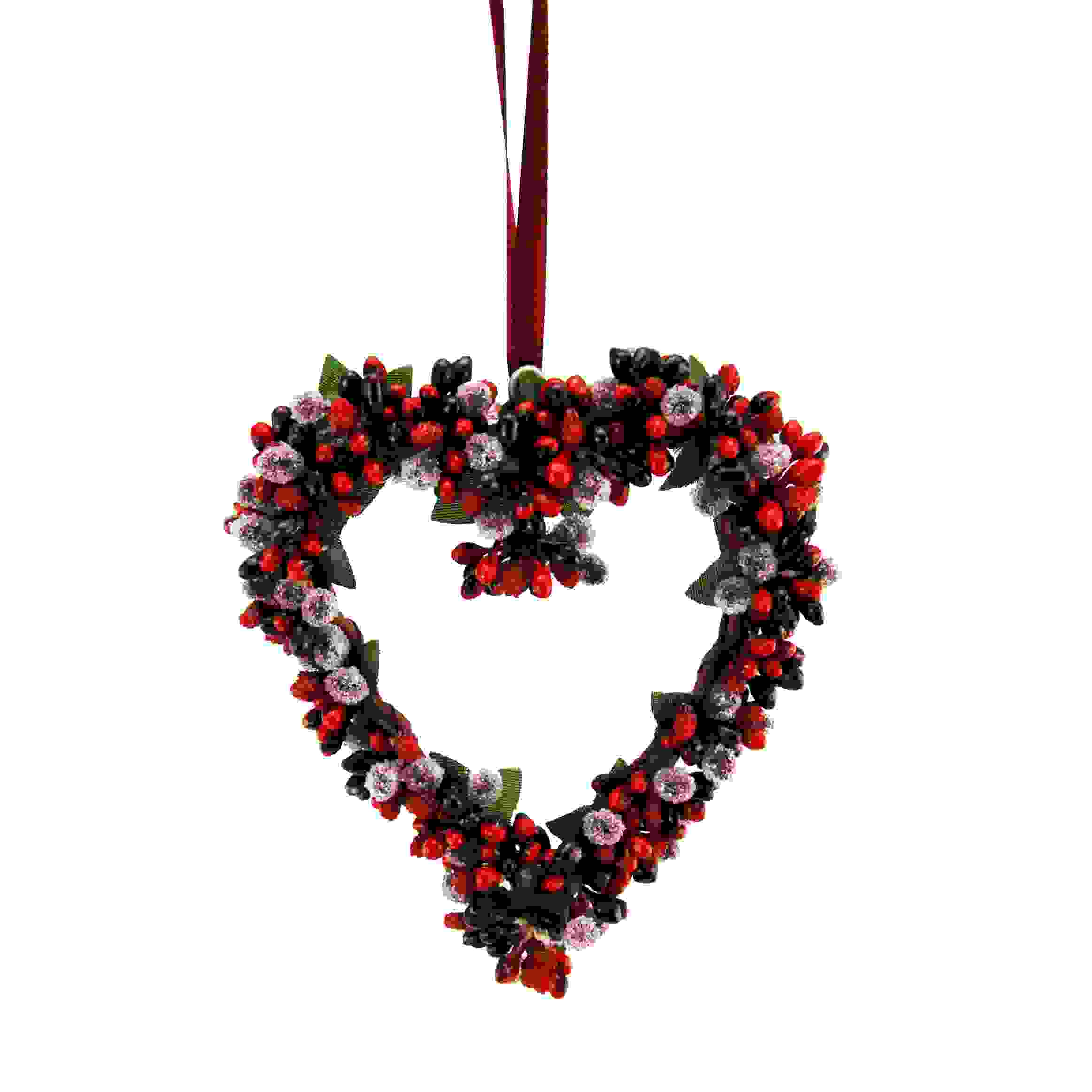 HANG HEART 15CM BERRYBUD RED/BURG.