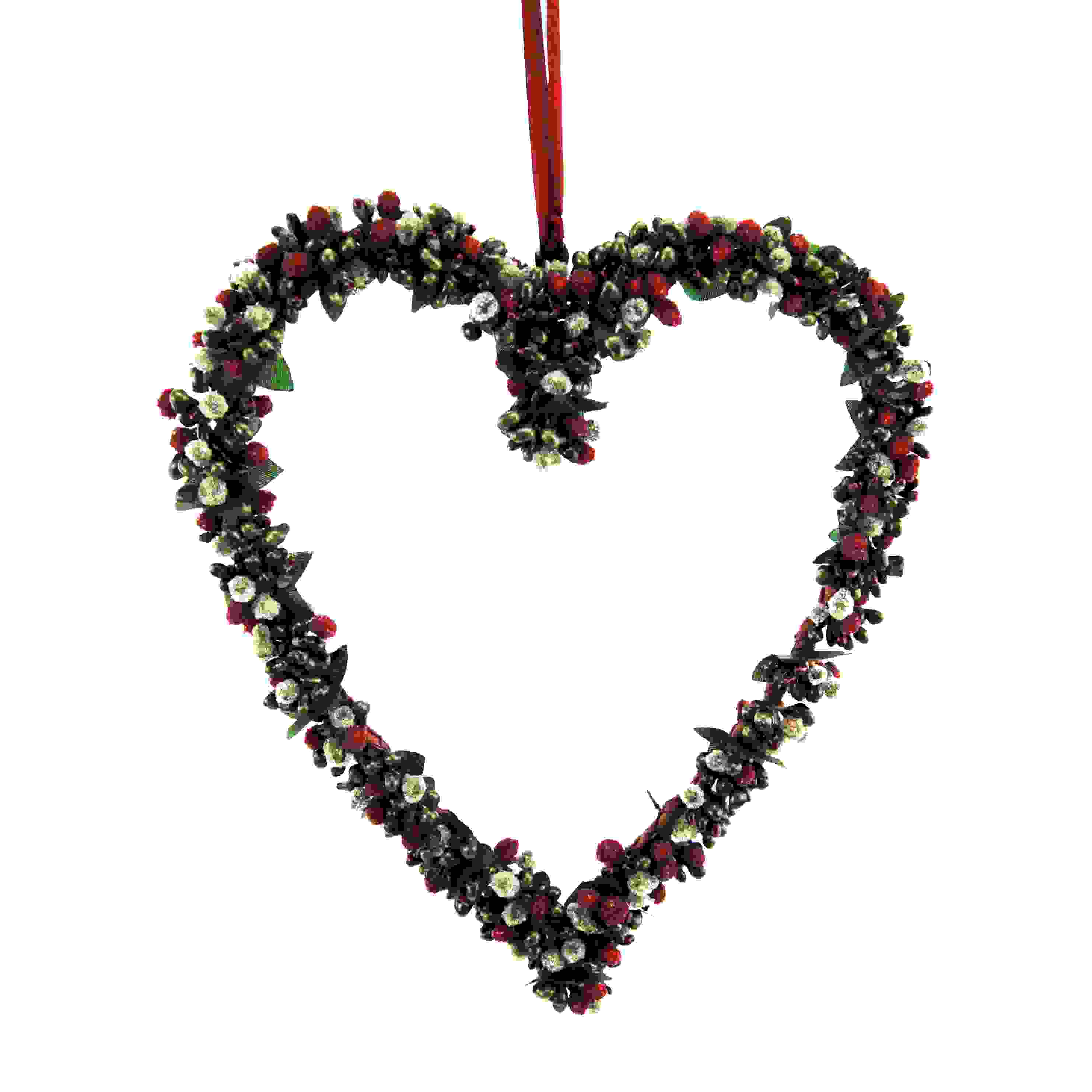 HANG HEART 26cm BERRYBUD GREEN/BURG.