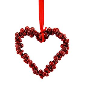 HANG HEART RED CLUSTER BERRY ICED