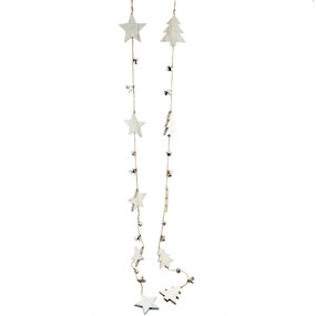 HANG. GARLAND STARS/TREES  W/BELLS ASS. 112cm