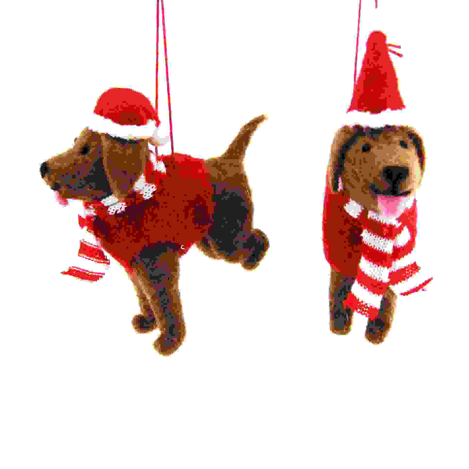 HANG. ASS.FESTIVE DOGS 10cm