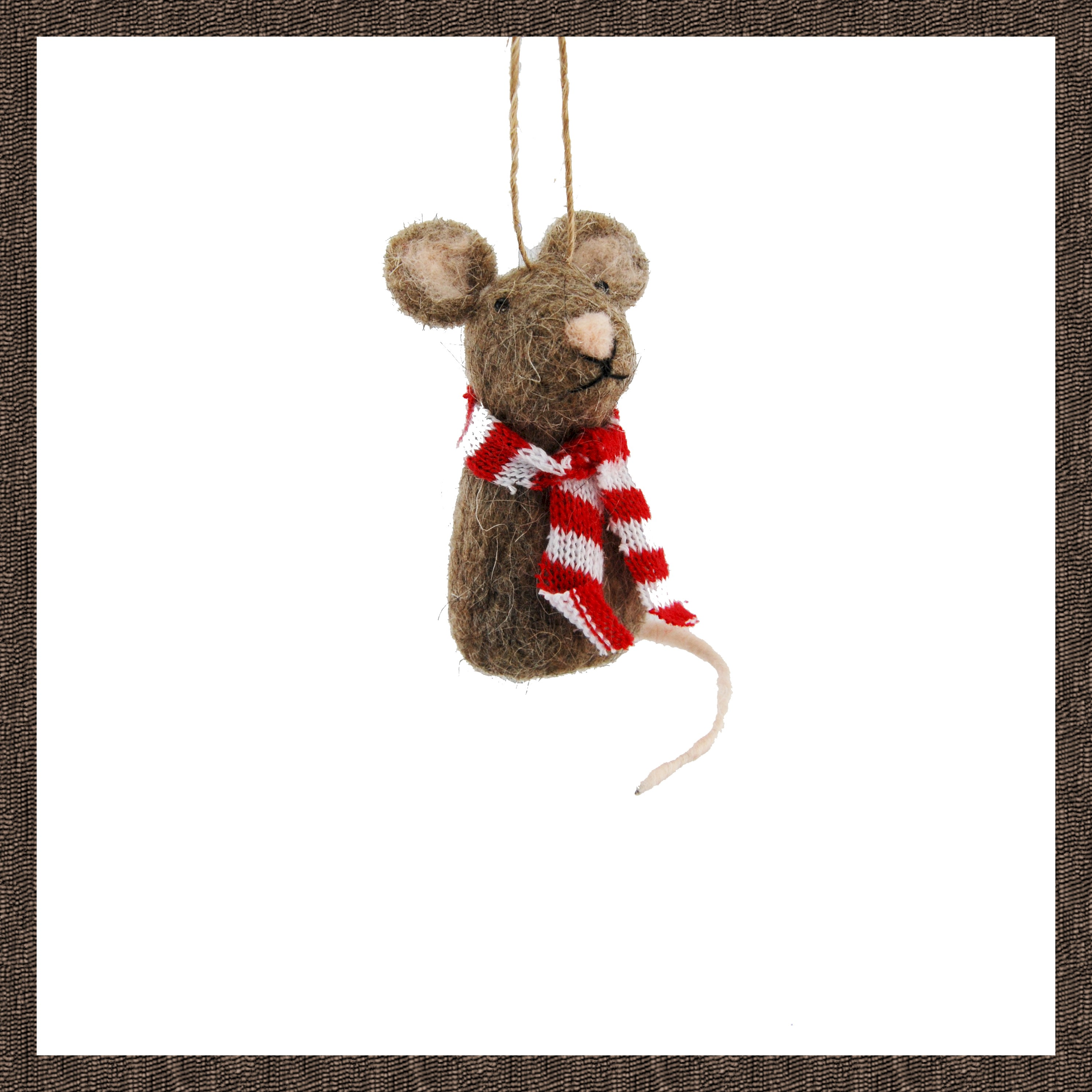 HANG BROWN MOUSE 8cm