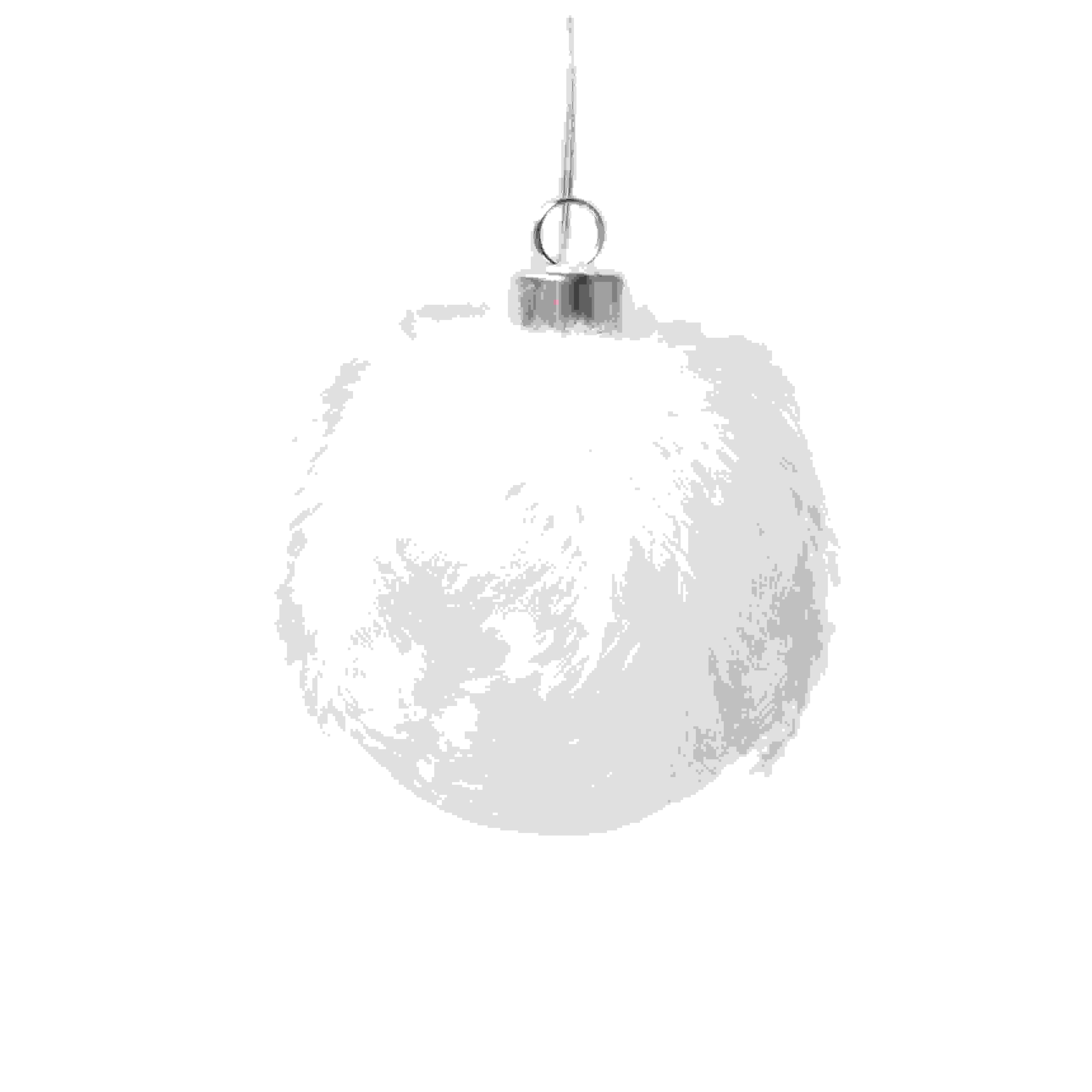 HANG. WHITE FEATHER LED BALL 10cm