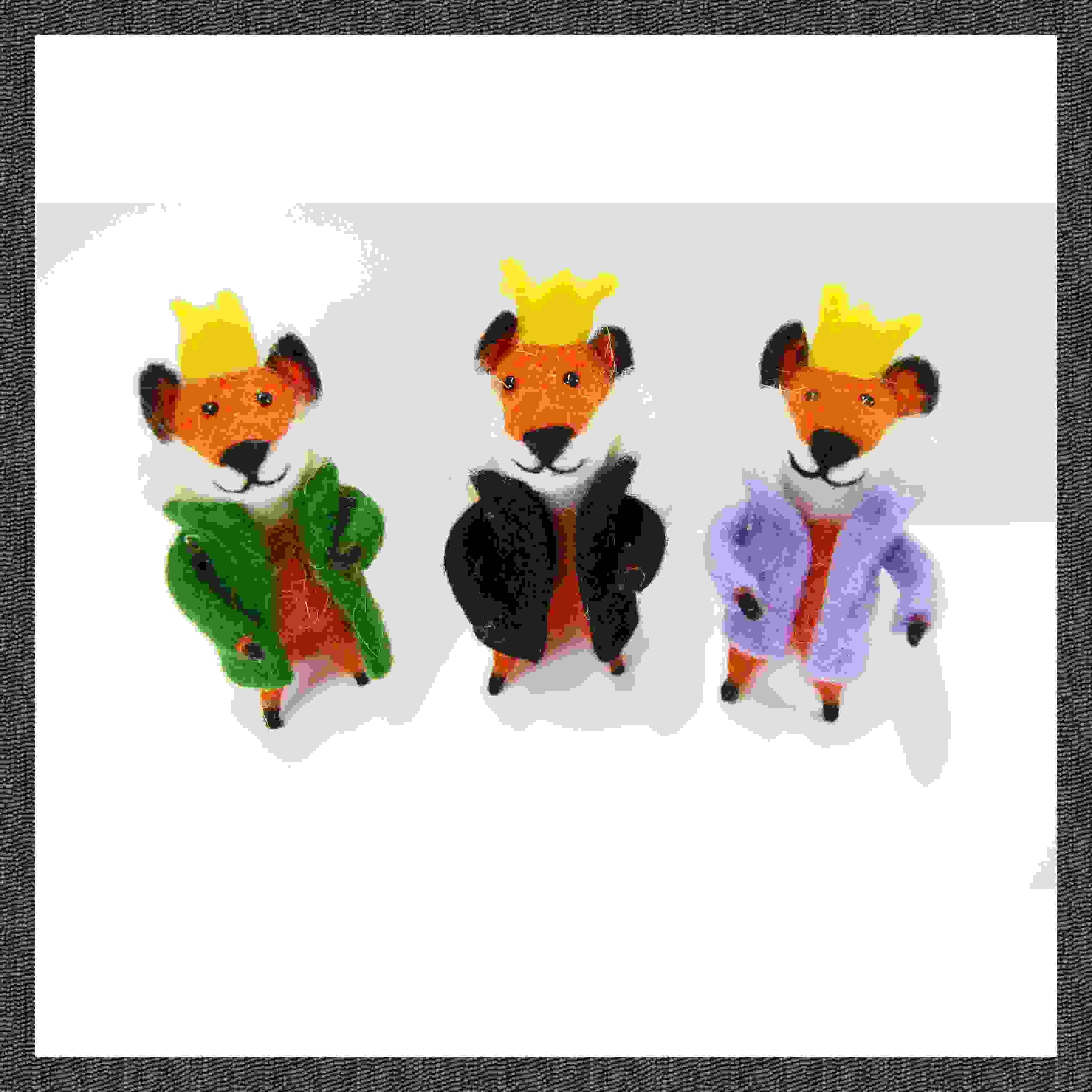 THE MAGI- SET OF 3 WISE FOXES