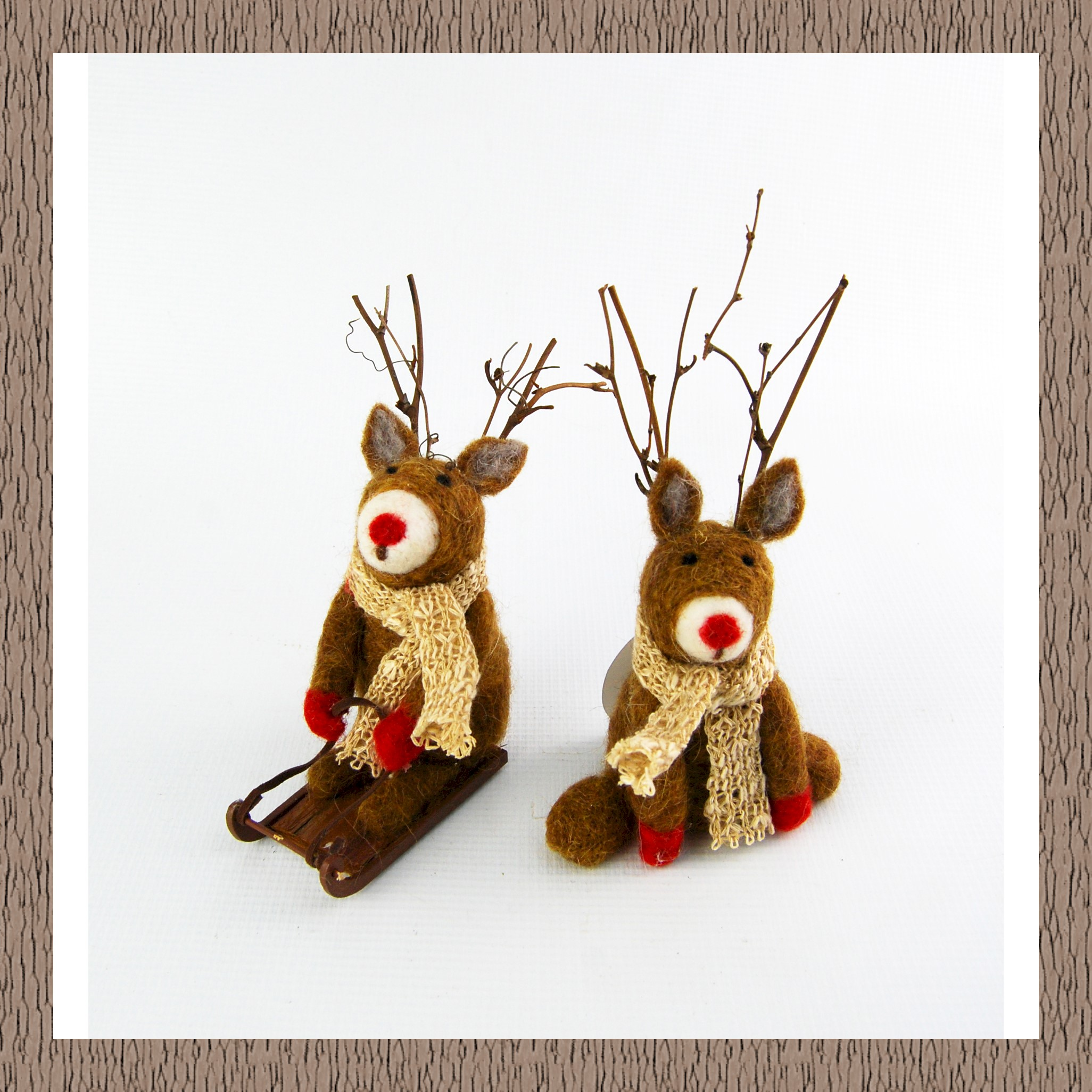 RUDOLF ASS. WITH/WITHOUT SLEIGH 11cm