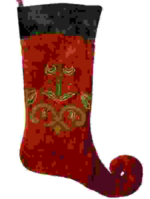 CHRISTMAS JESTER STOCKING 66cm RED