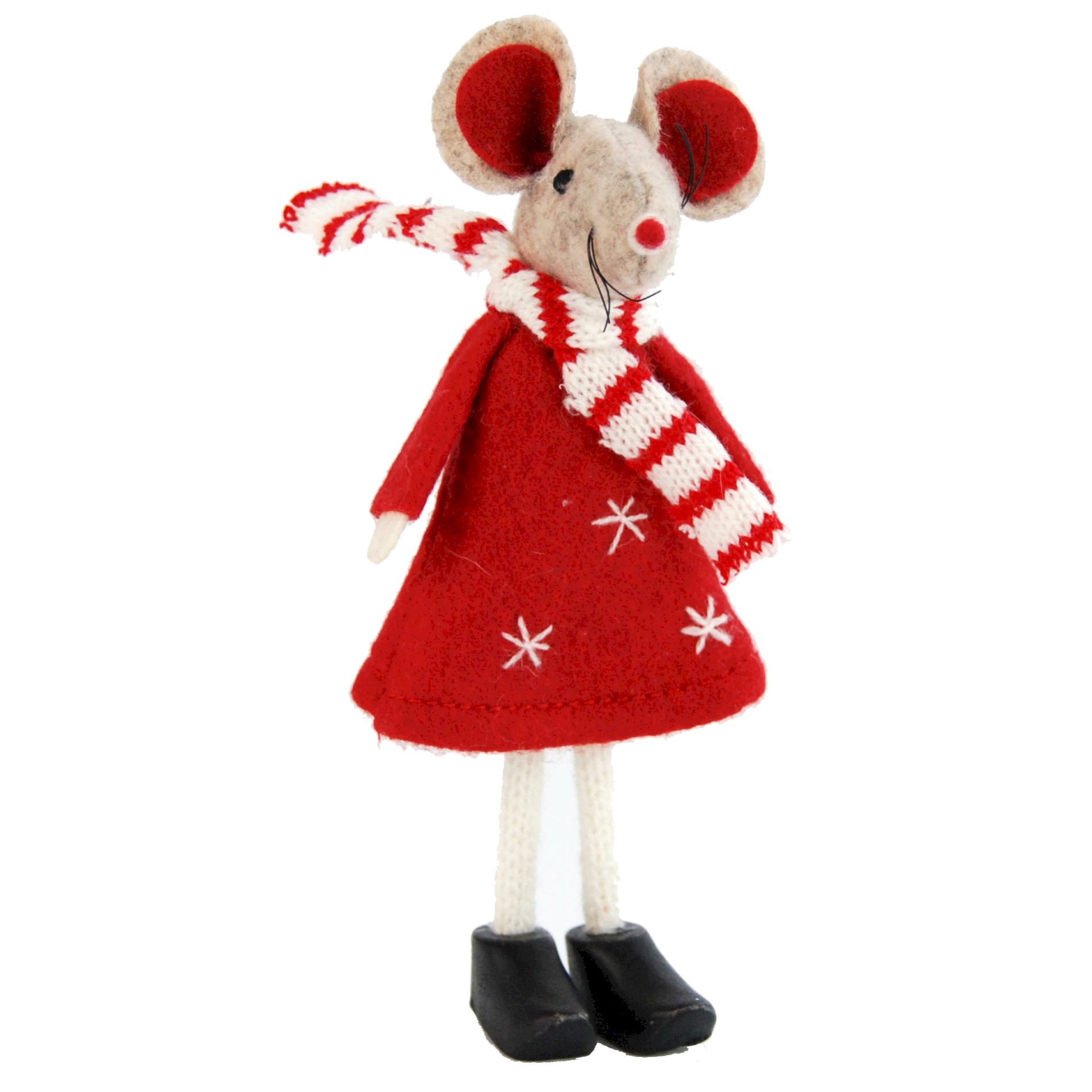 STAND MOUSE 14cm RED