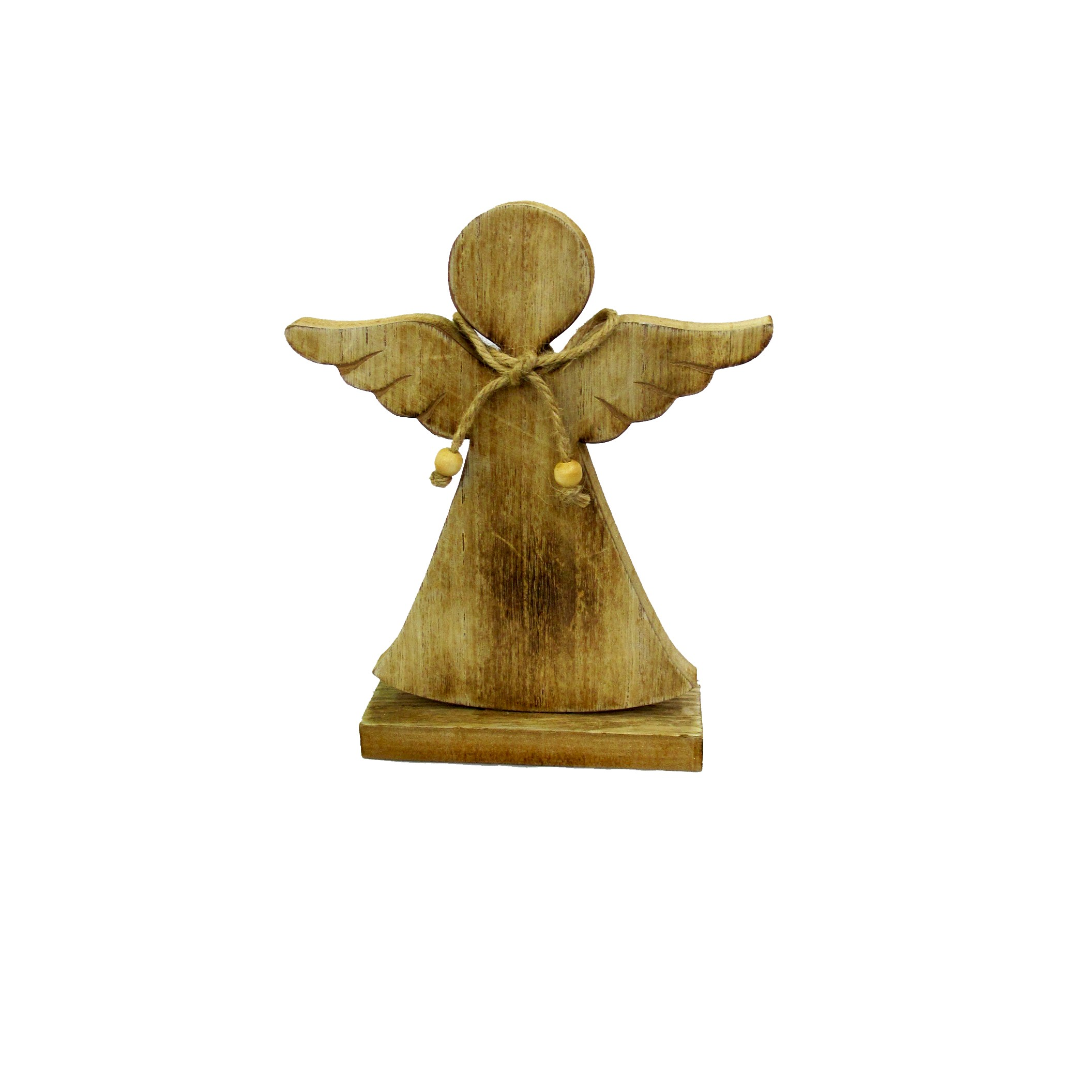 WOODEN ANGEL 20cm NATURAL