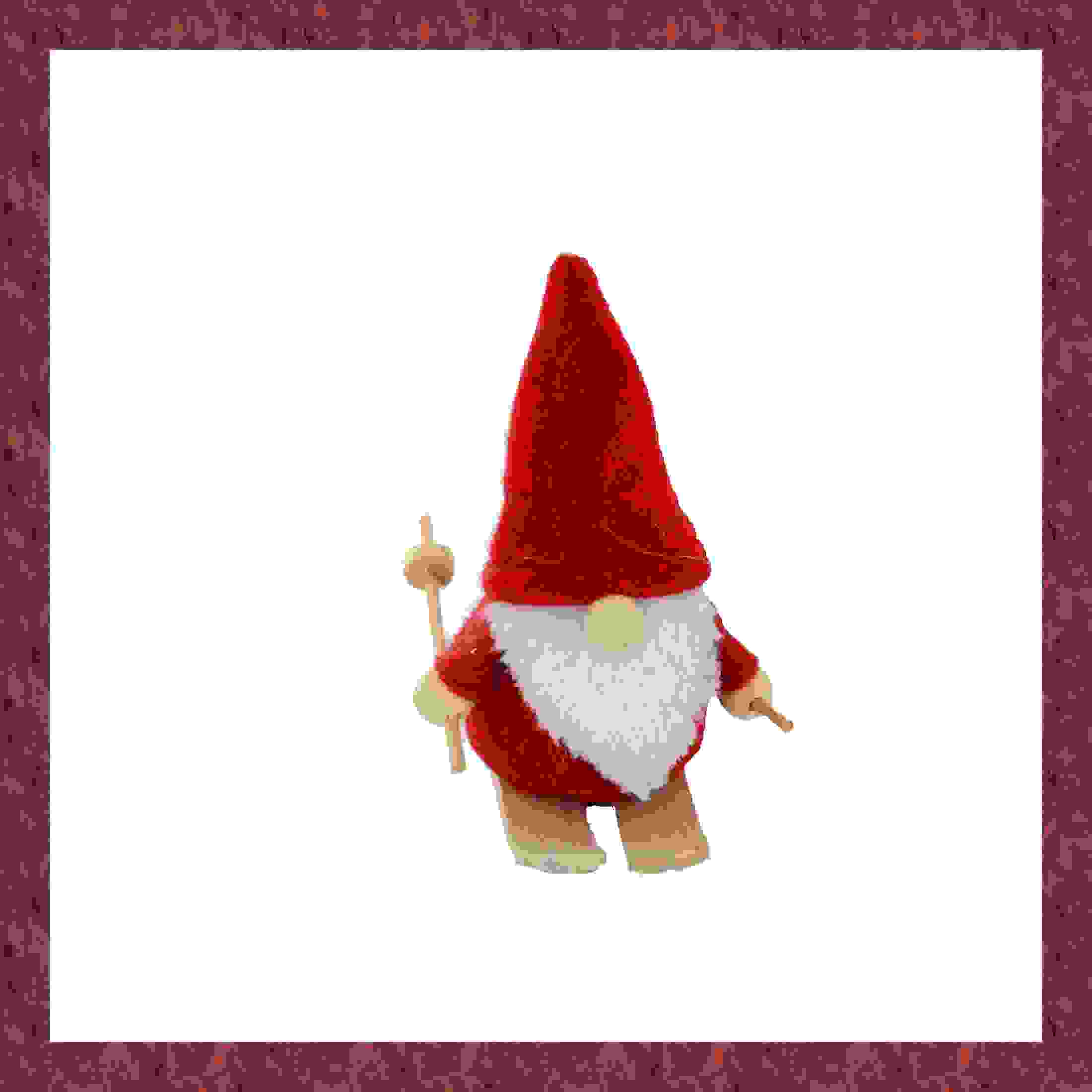 FELT SANTA ON SKIS 10cm