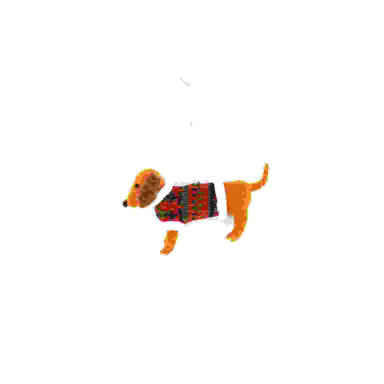 HANG. SAUSAGE DOG w/FESTIVE JUMPER