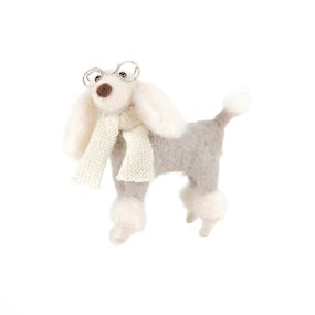 STANDING POODLE w/GLASSES