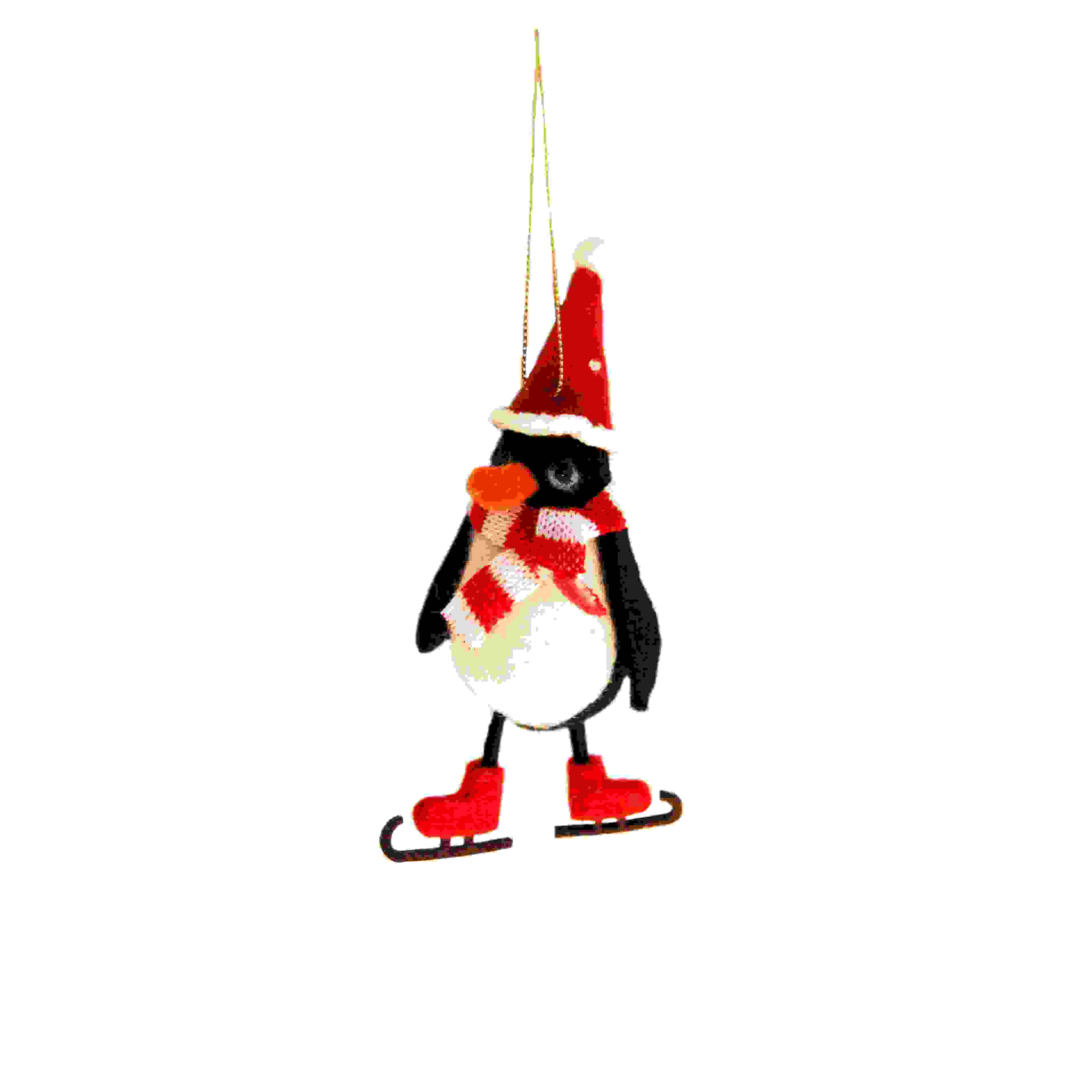 HANG. SKATING FESTIVE PENGUIN