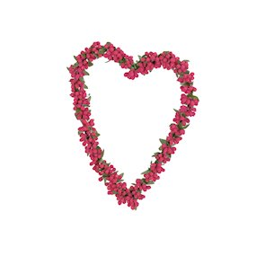 HANG HEART RED/GREEN 22cm  (L)