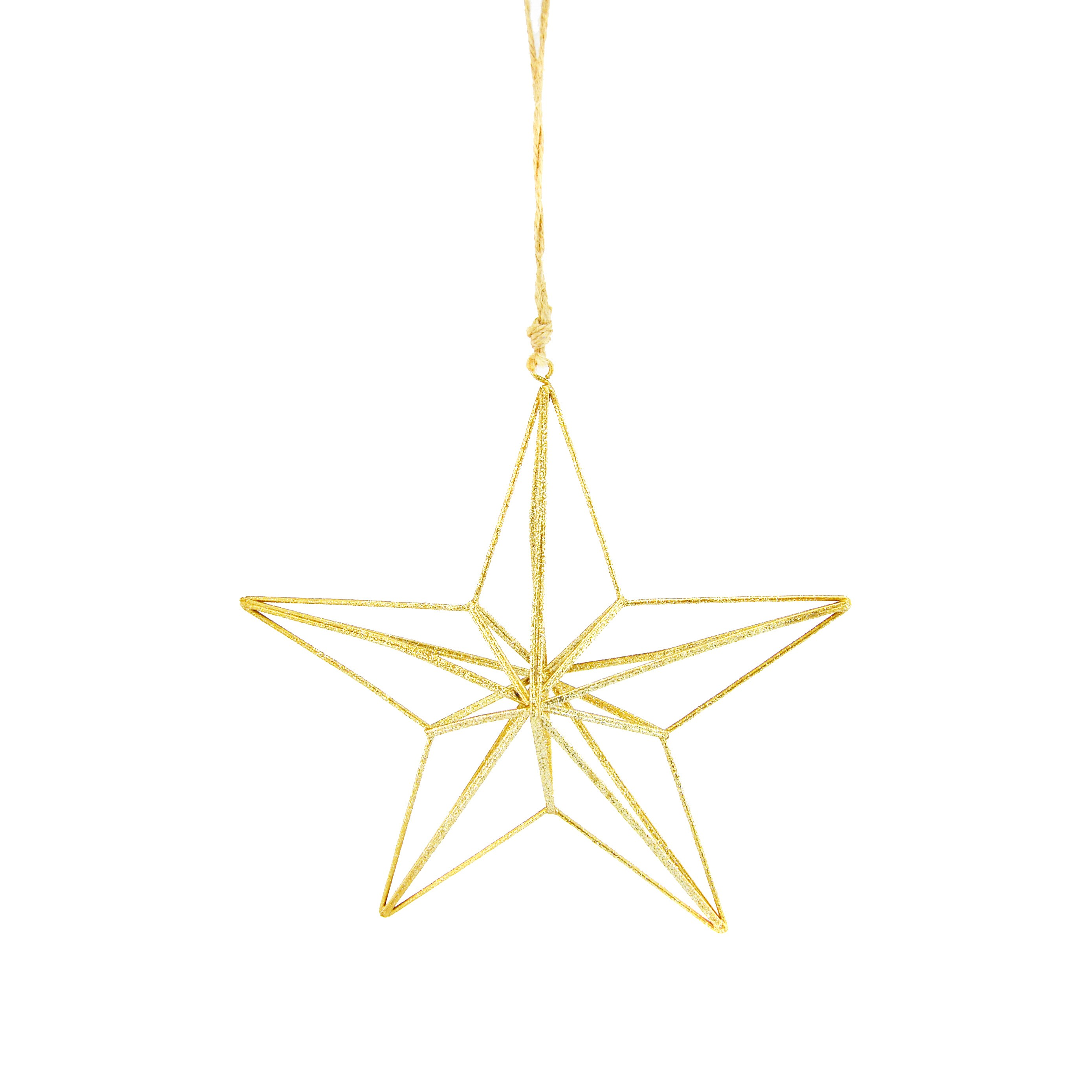 HANG WIRE 3D STAR GOLD (L)