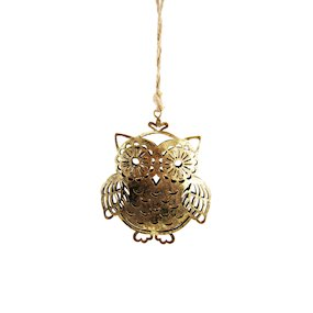 HANG METAL DECORATIVE OWL (S)