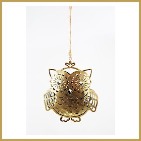 HANG METAL DECORATIVE OWL (L)
