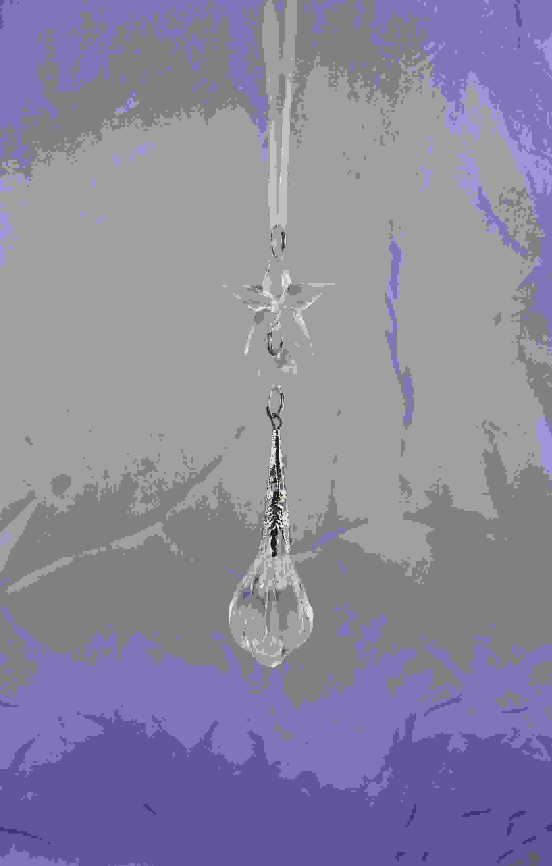 HANG CRYSTAL DROP W/STAR 12cm