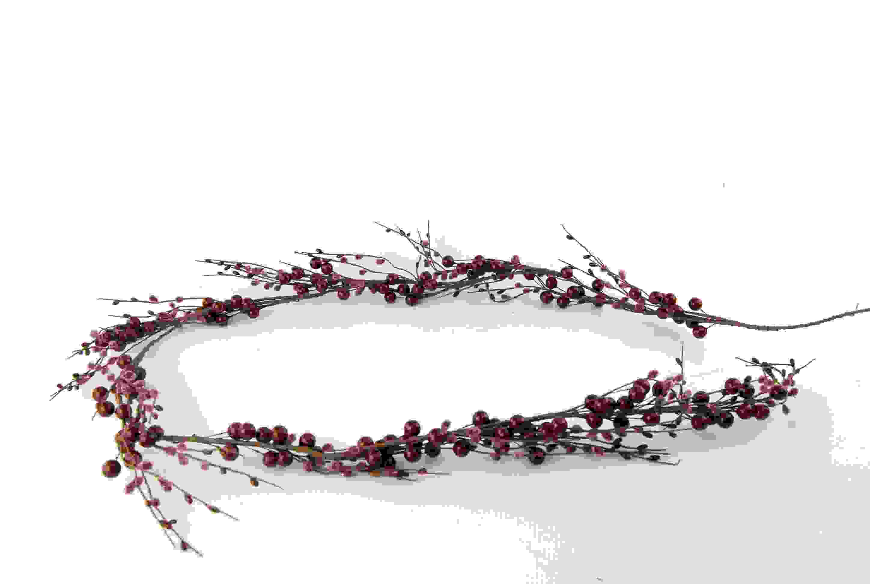 GARLAND BURGUNDY & FROSTED BERRIES 148cm