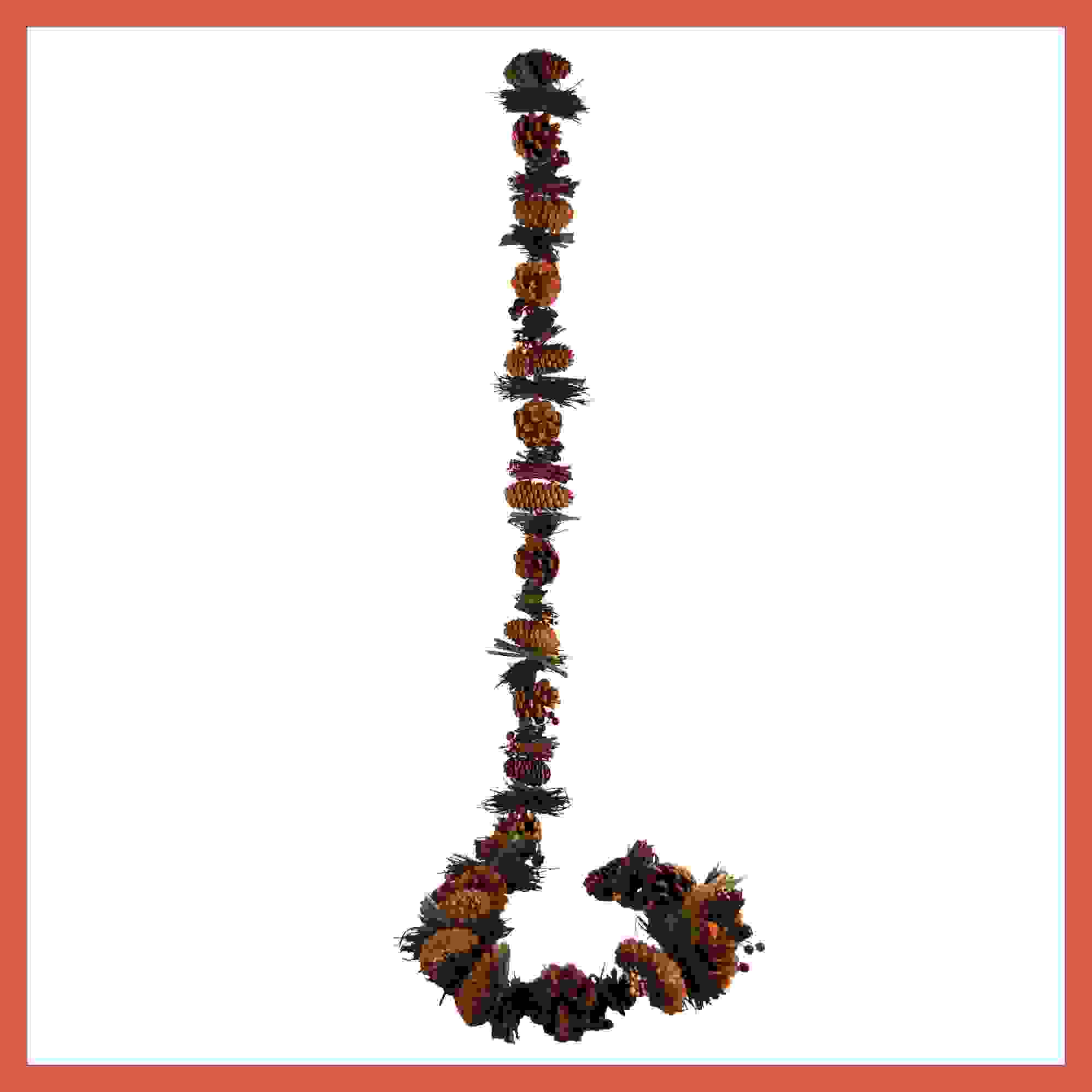 GARLAND CONE/GRASS/BERRY 150cm