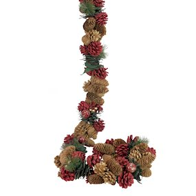 GARLAND 160cmCONE/RED APPLE/FIR/GREEN LEAF