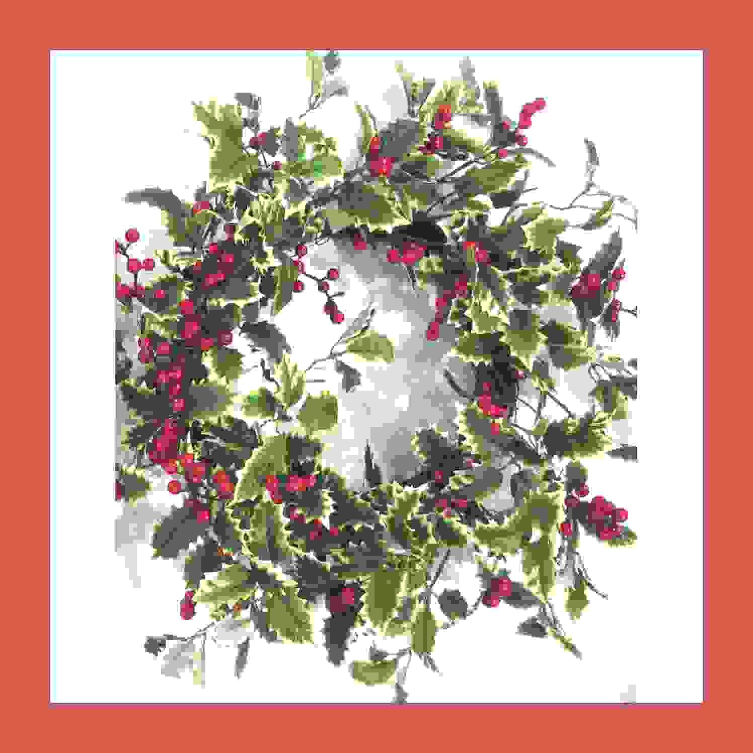 WREATH VAR. HOLLY LEAF RED BERRY