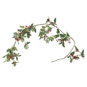 GARLAND VAR HOLLY RED BERRY