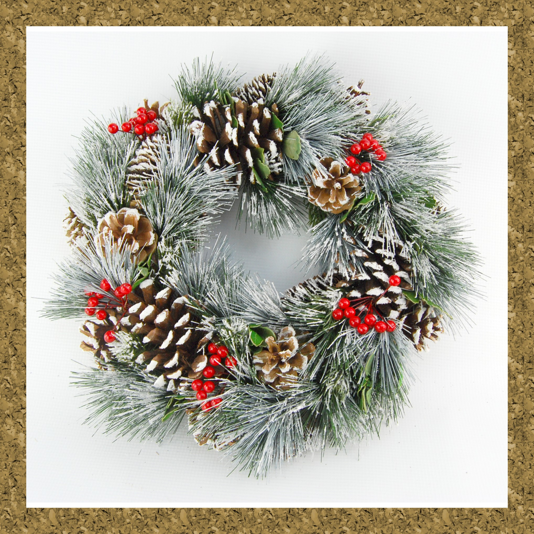 WREATH NATURAL 34cm