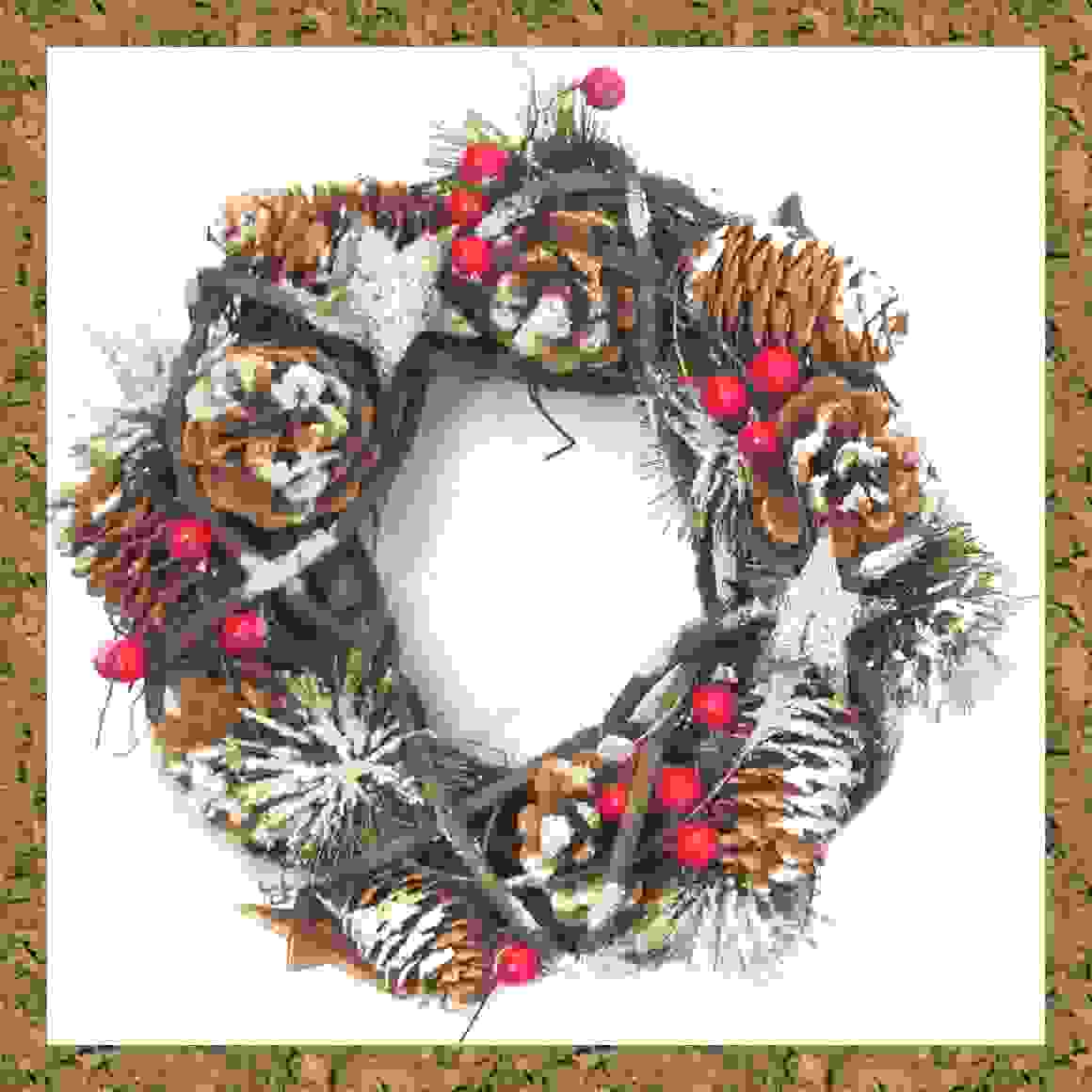 WREATH 24cm PINECONE