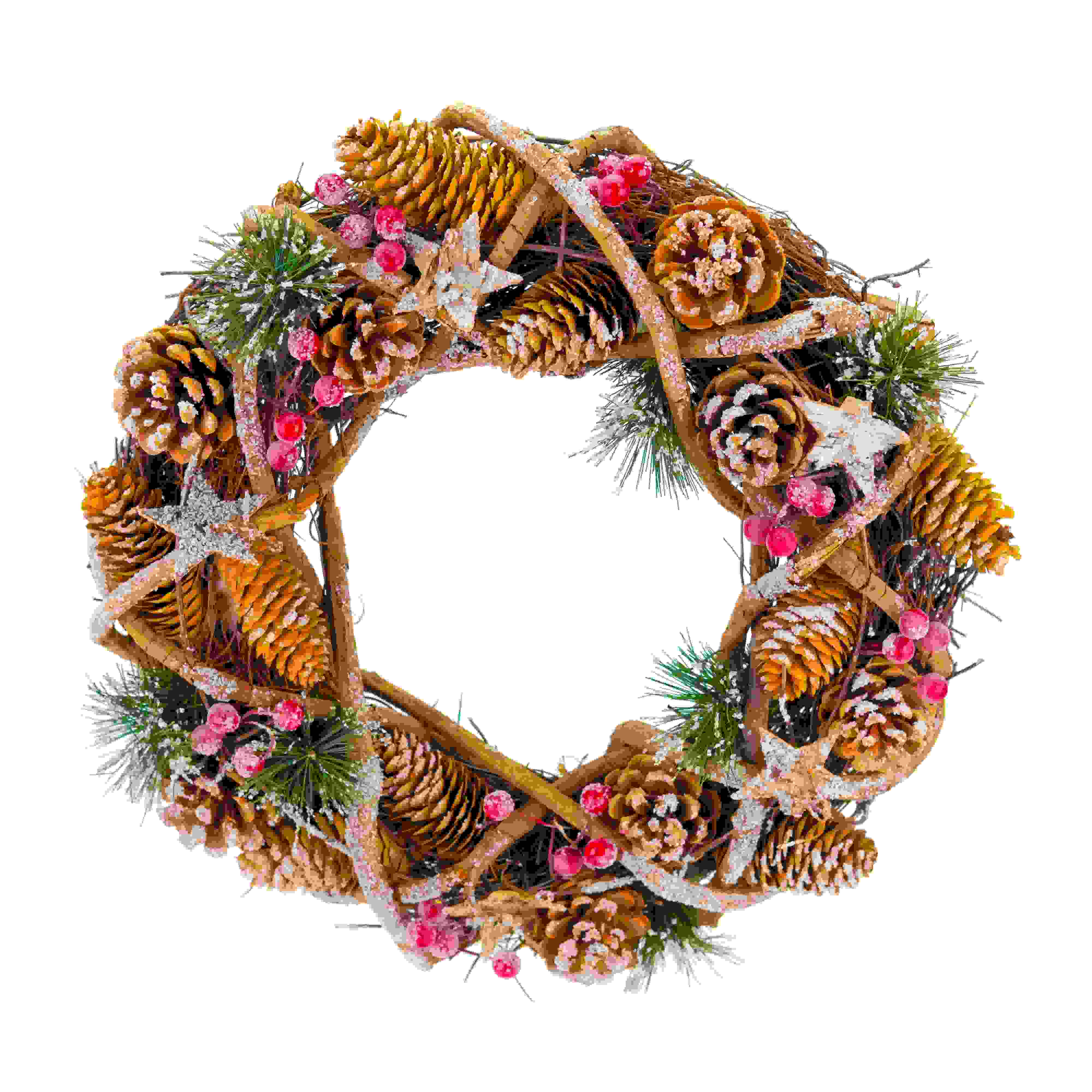 WREATH 33cm PINECONE
