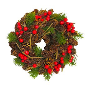 WREATH 23cm NATURAL