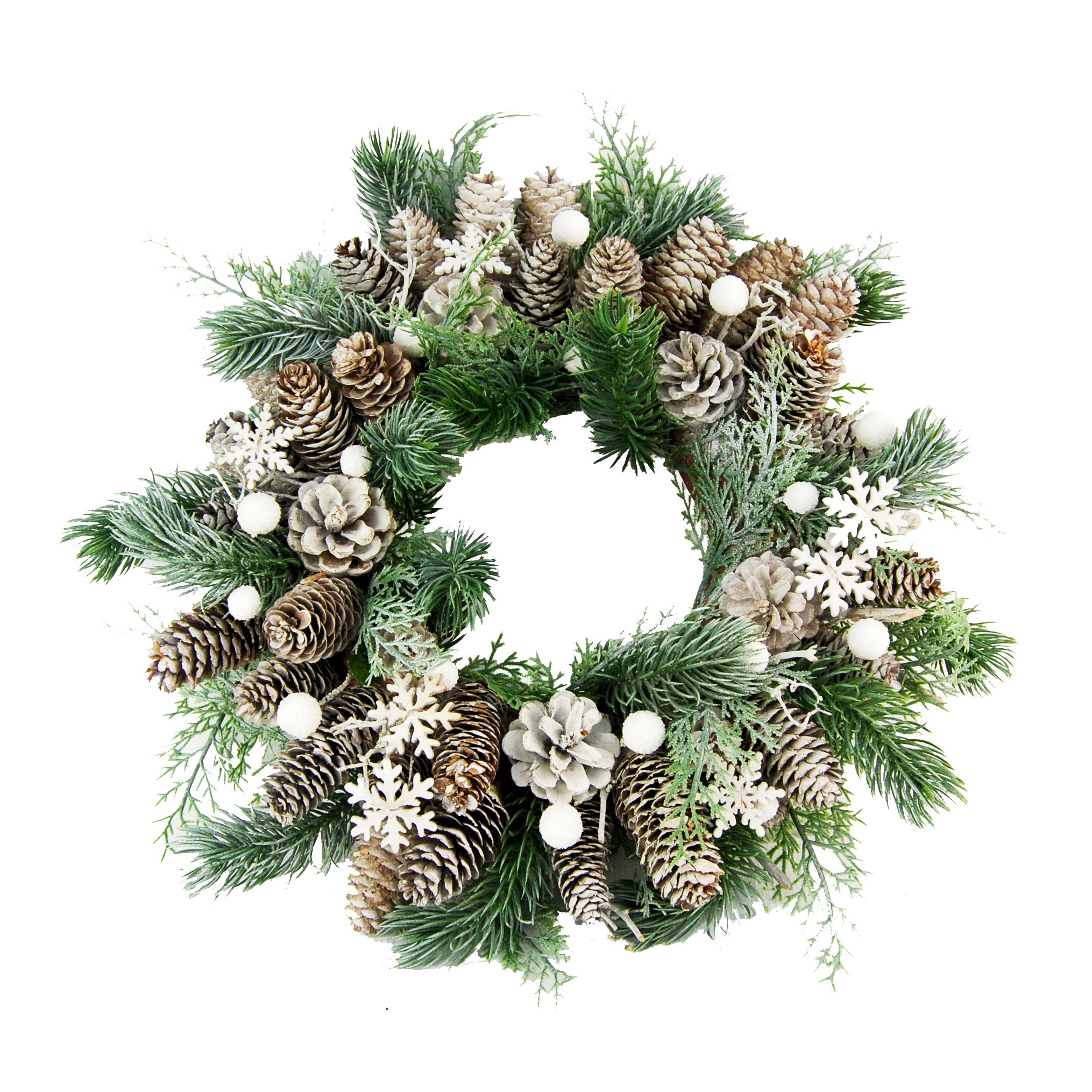 WREATH FIR/CONE/SNOWFLAKE